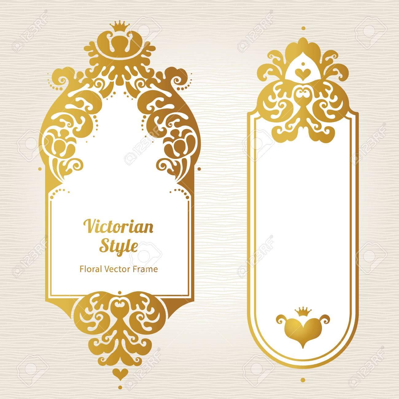 Vector Decorative Frames In Victorian Style Elegant Element