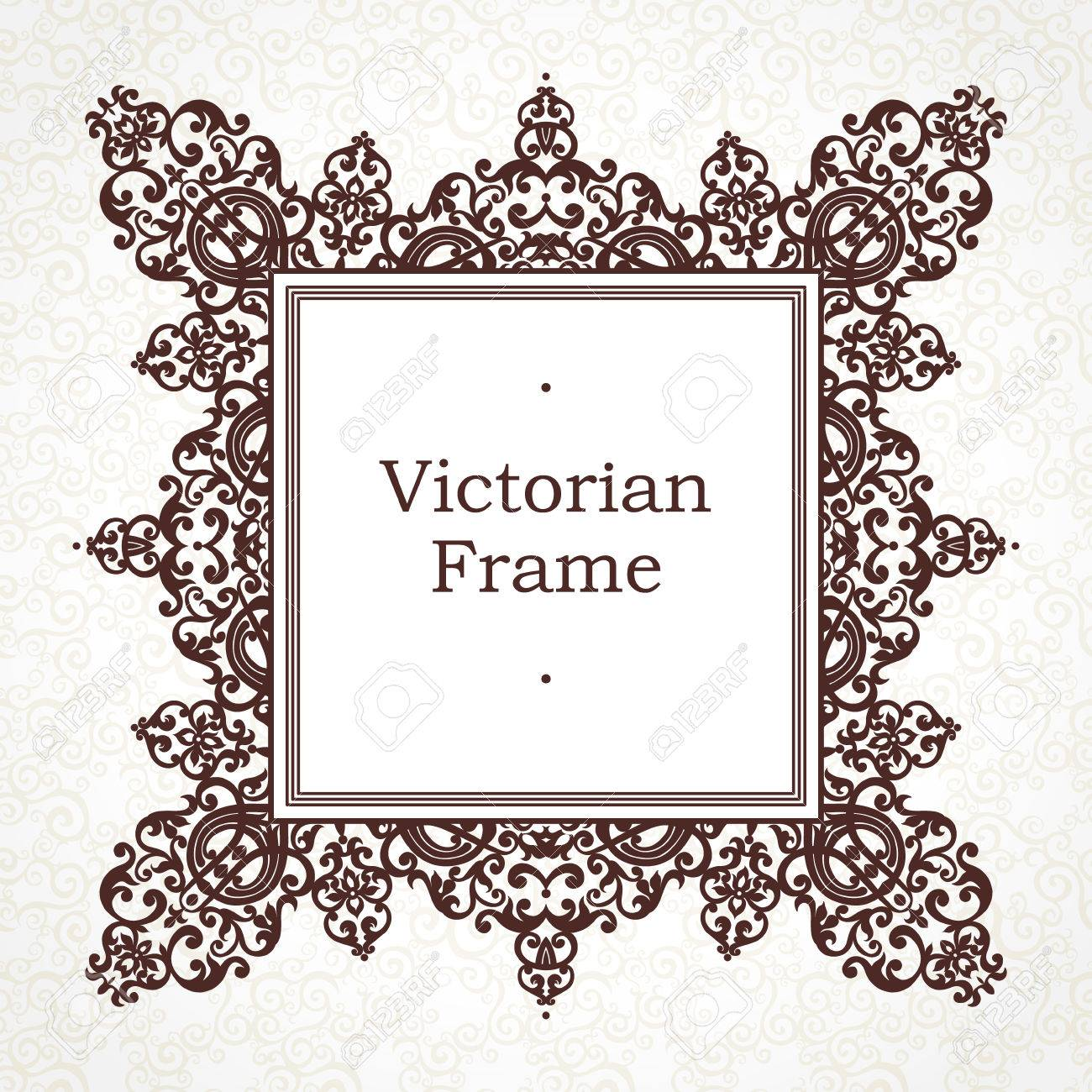 Vektor-Frame Im Viktorianischen Stil. Aufwändige Element Für Design ...