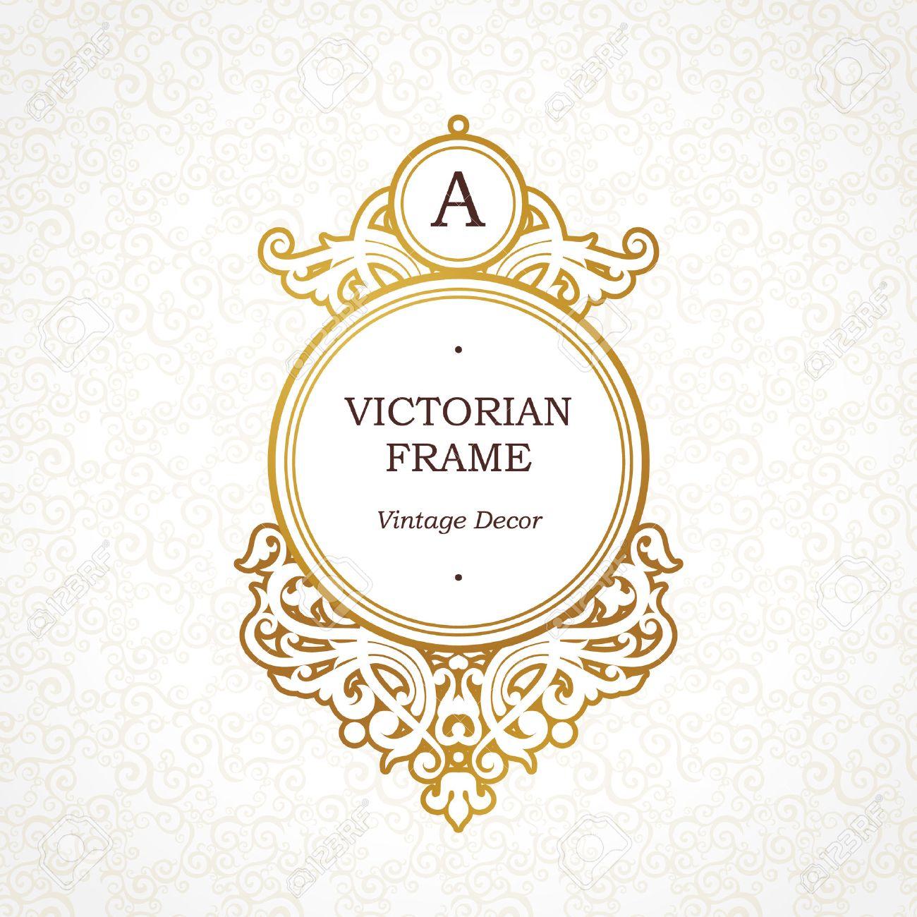 Kreis Vektor Goldenen Rahmen Im Viktorianischen Stil. Aufwändige ...