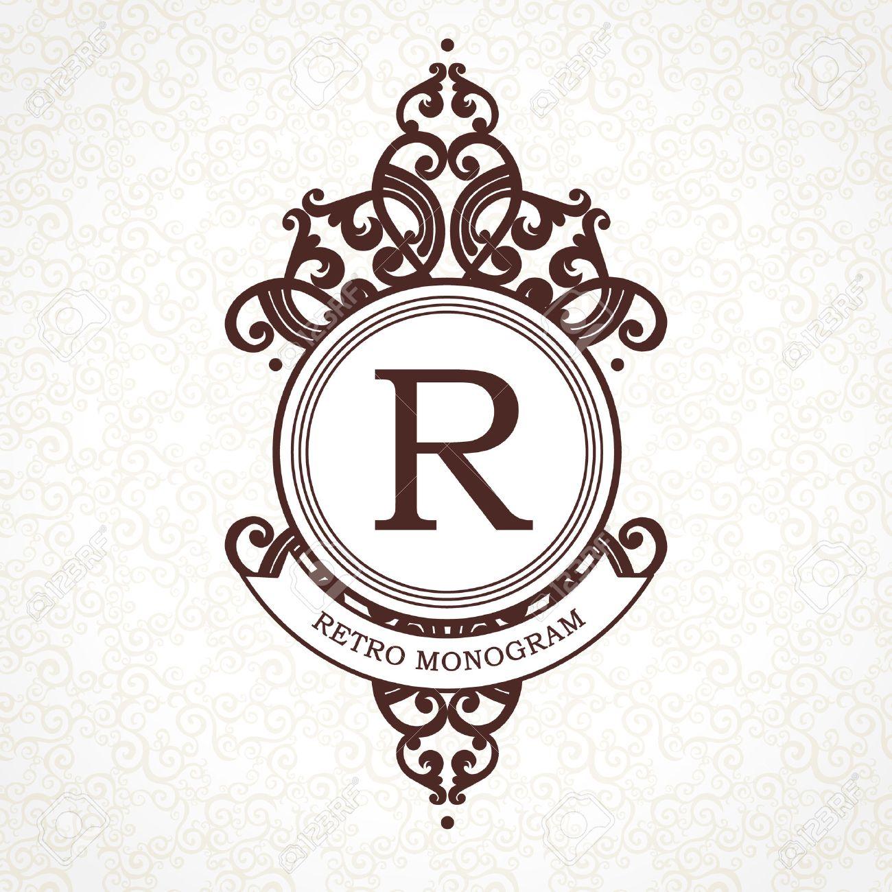 Vector-Logo-Vorlage Im Viktorianischen Stil. Aufwändige Element Für ...