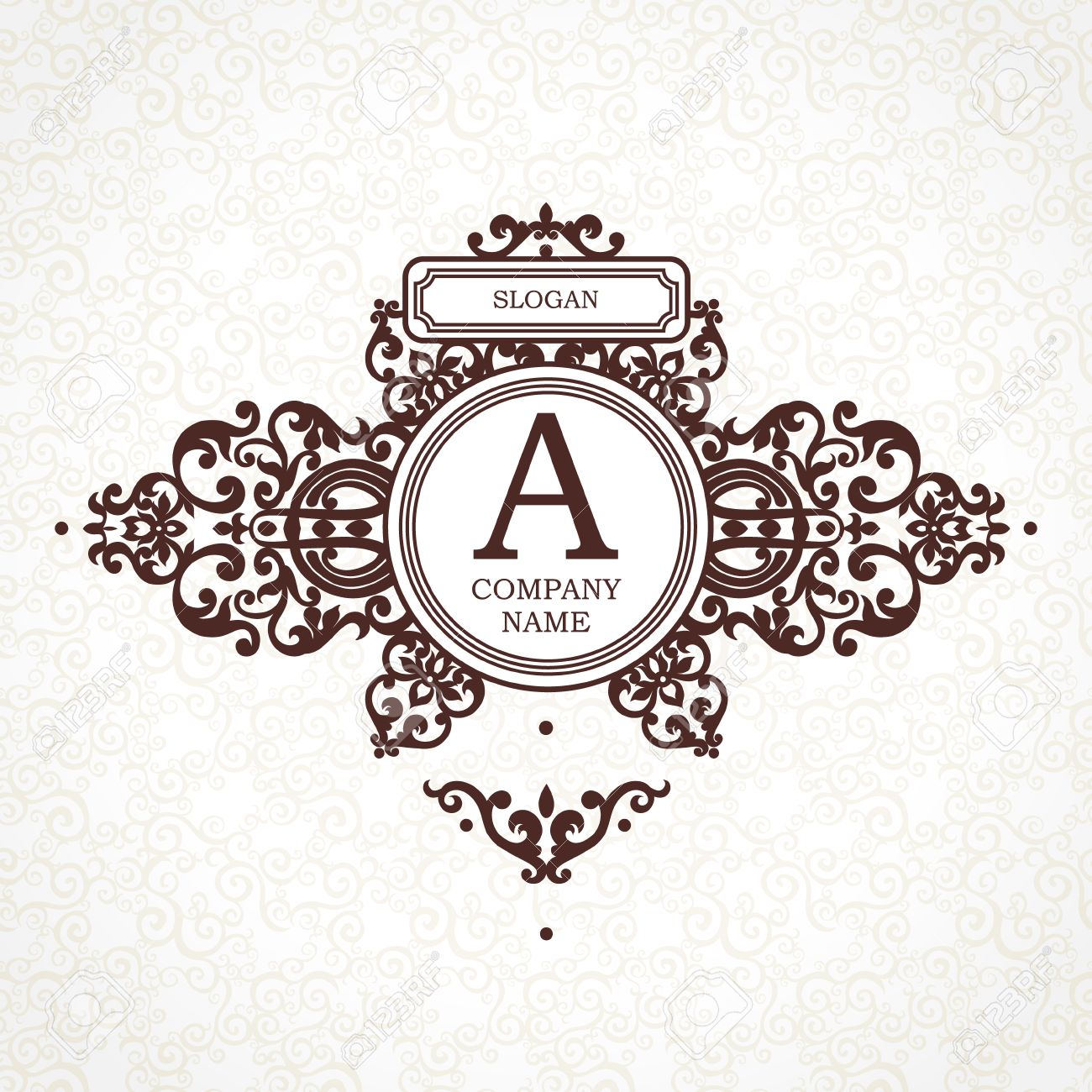 Vector Template In Victorian Style. Ornate Element For Design ...