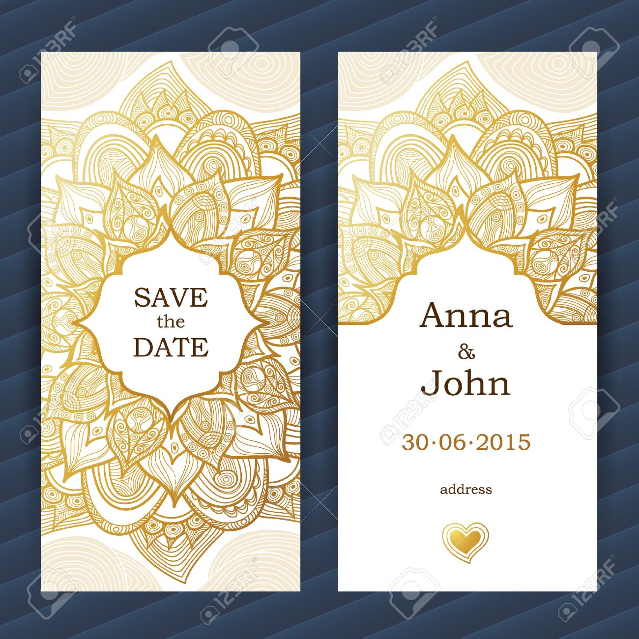 template frame for save the date and greeting card wedding invitation vector border with place for text easy to use layered