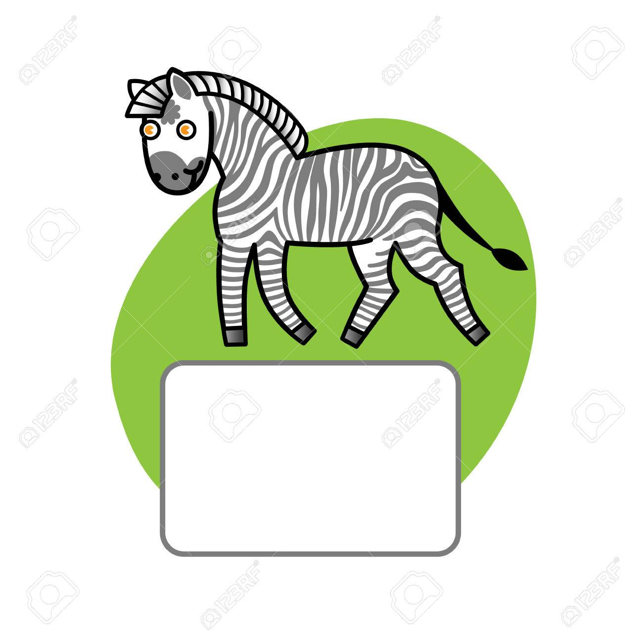 Zebra And Place For Your Text. Elements For Design. Template ...