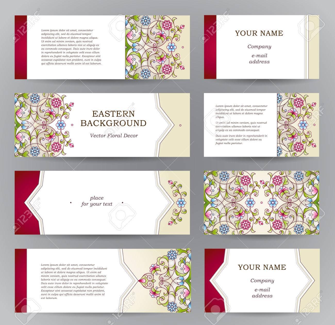 Dcoration Florale Orientale Vintage Frame Modle Pour Le Ramadan Kareem Carte De Voeux Visite Les Tiquettes Et Avec