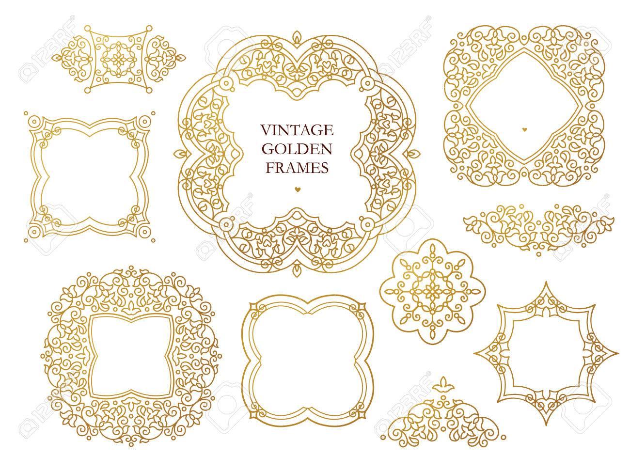 Vector Conjunto De Marcos De Gráficos Lineales, Viñetas De Diseño De ...