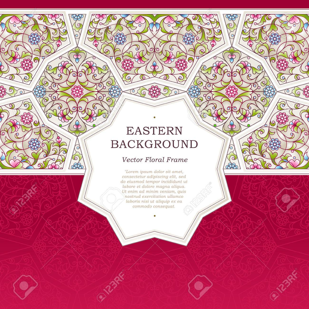 Vector Seamless Border In Eastern Style. Ornate Element For Design ...