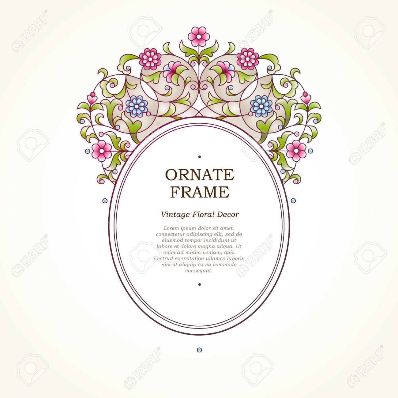 Vector Rahmen Für Design-Vorlage. Elegante Element In Ost-Stil ...