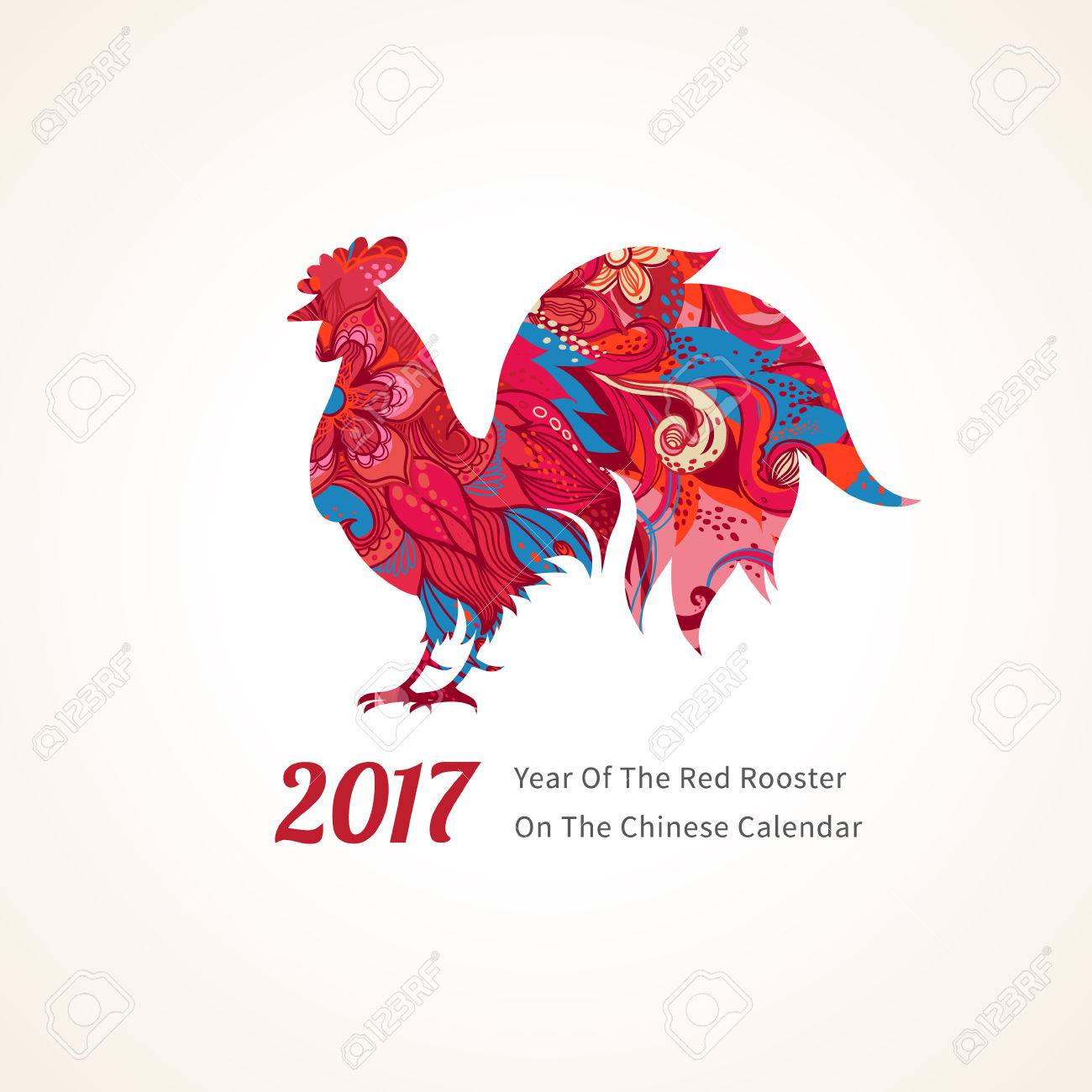 Vector illustration of rooster symbol of 2017 on the chinese vector illustration of rooster symbol of 2017 on the chinese calendar silhouette of red biocorpaavc