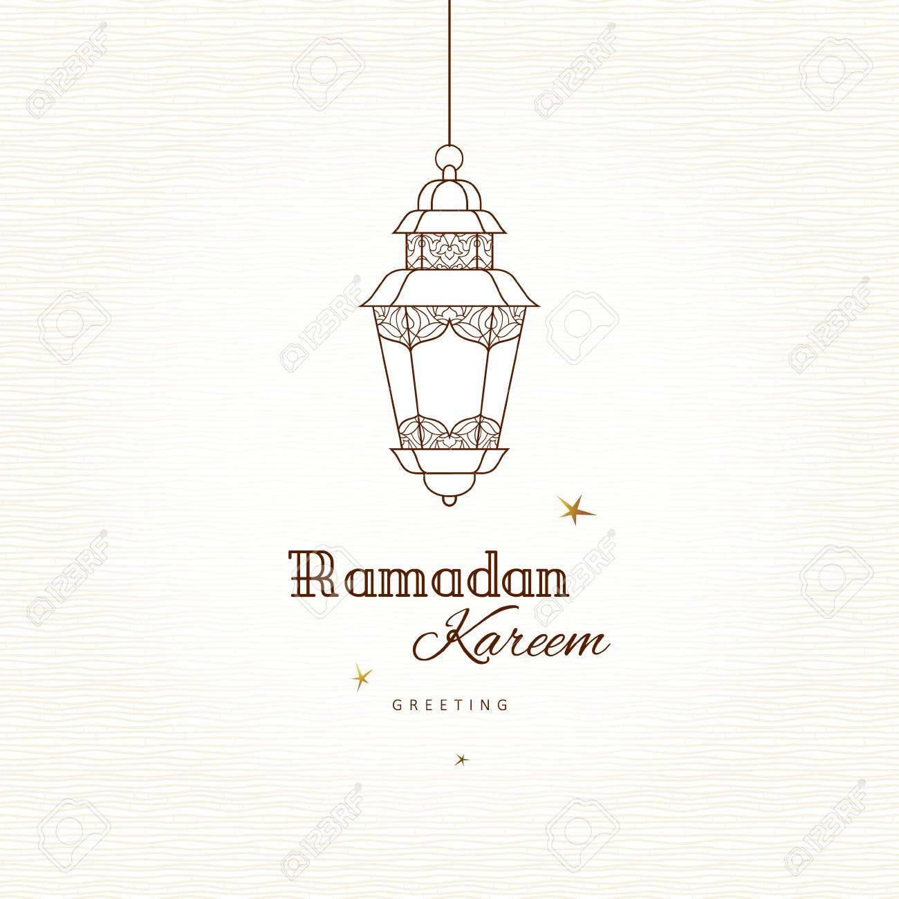 Ornate Vector Vintage Lantern For Ramadan Wishing. Arabic Shining ... for islamic lantern template  565ane