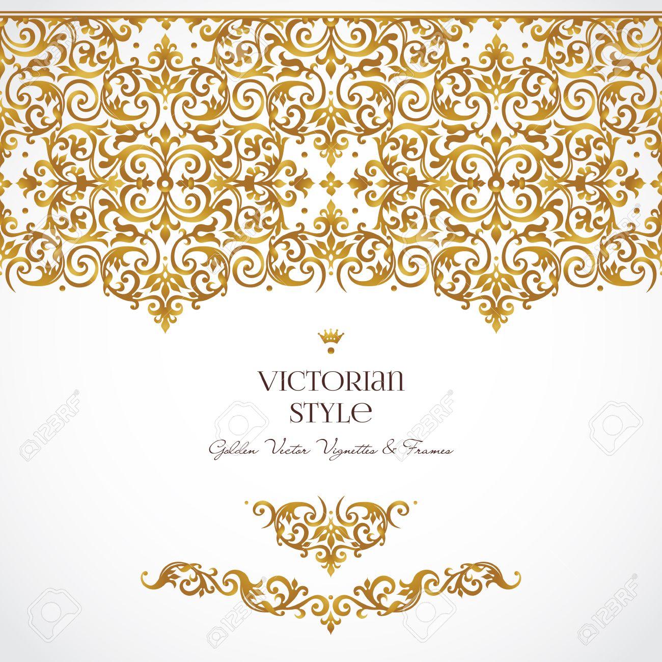 spesso Vector Set Di Vignette D'oro E Bordi Per Modello Di Progettazione  XX86