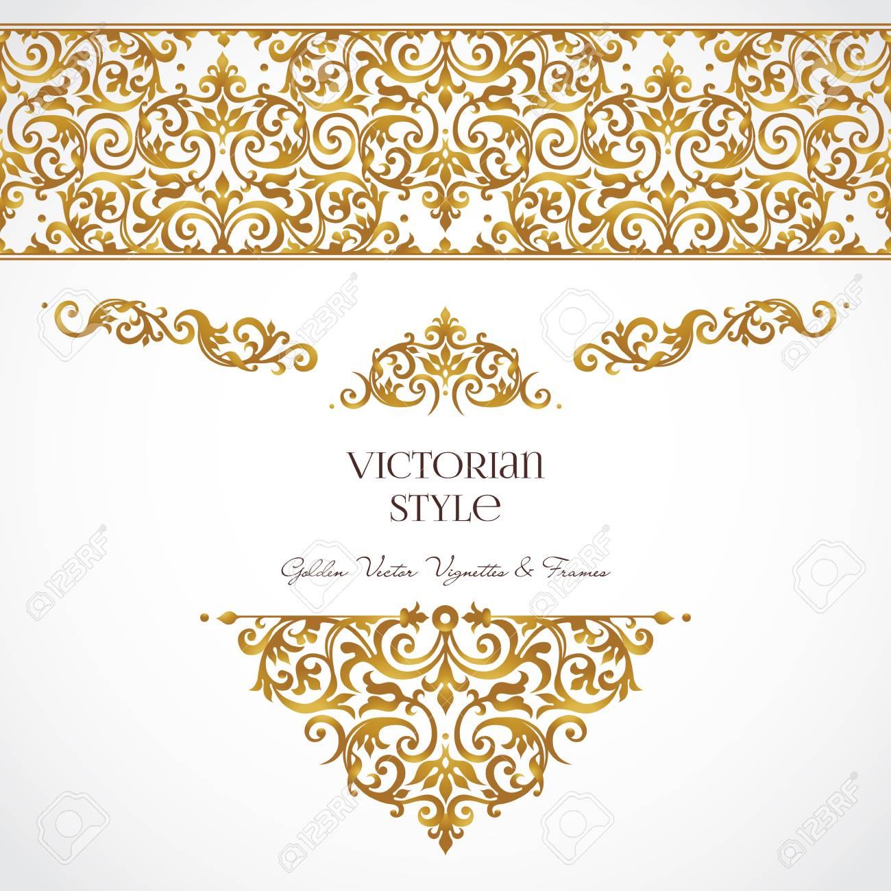 Vector Conjunto De Viñetas De Oro Y Las Fronteras Para El Diseño De ...