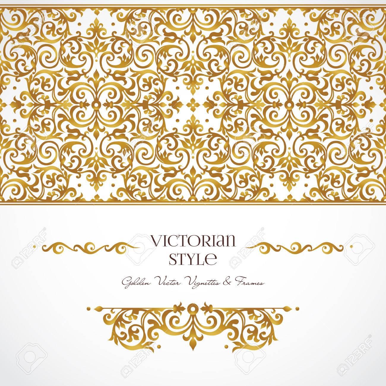 Vector Reihe Von Goldenen Vignetten Und Grenzen Für Design-Vorlage ...