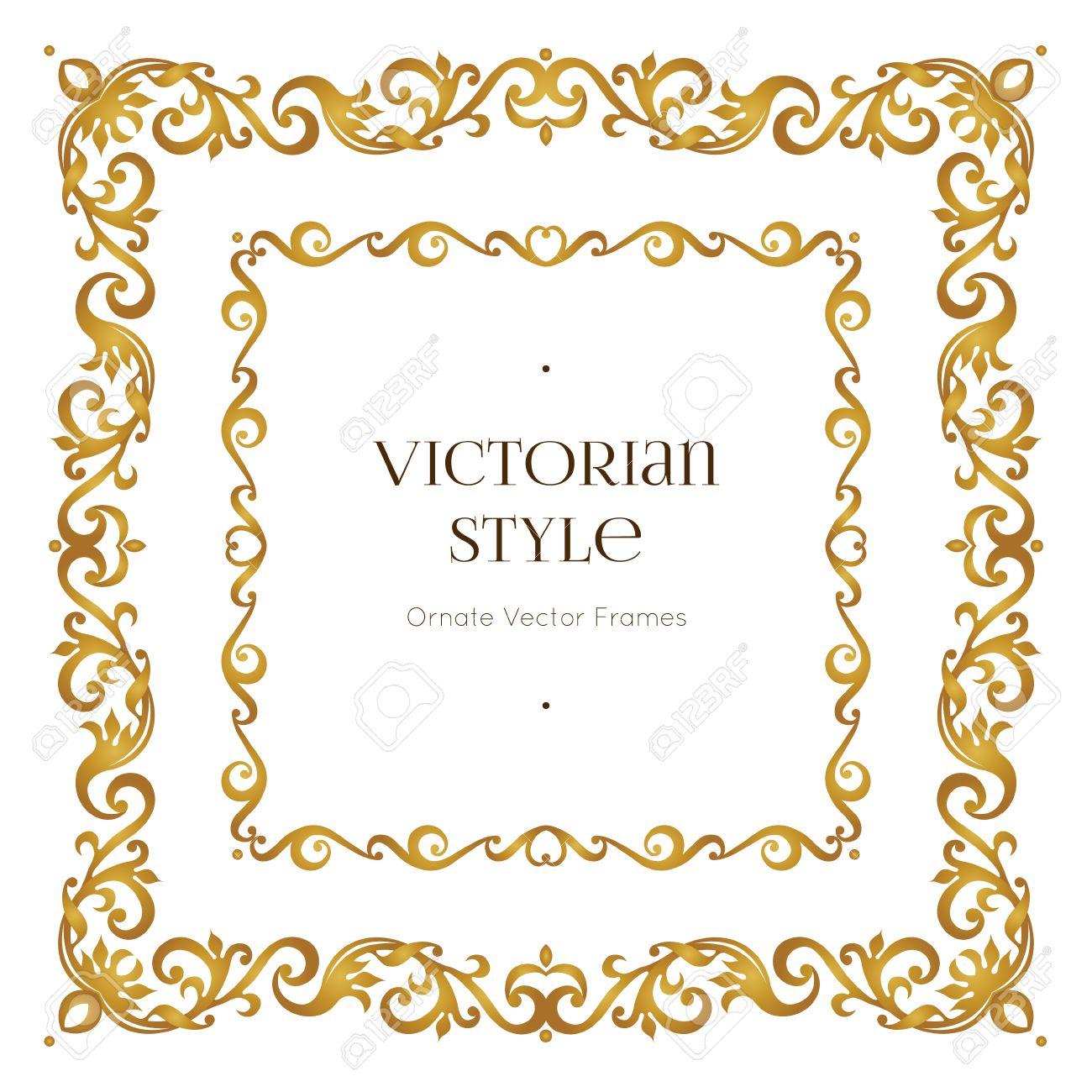 vector golden precious frame for design template elegant element