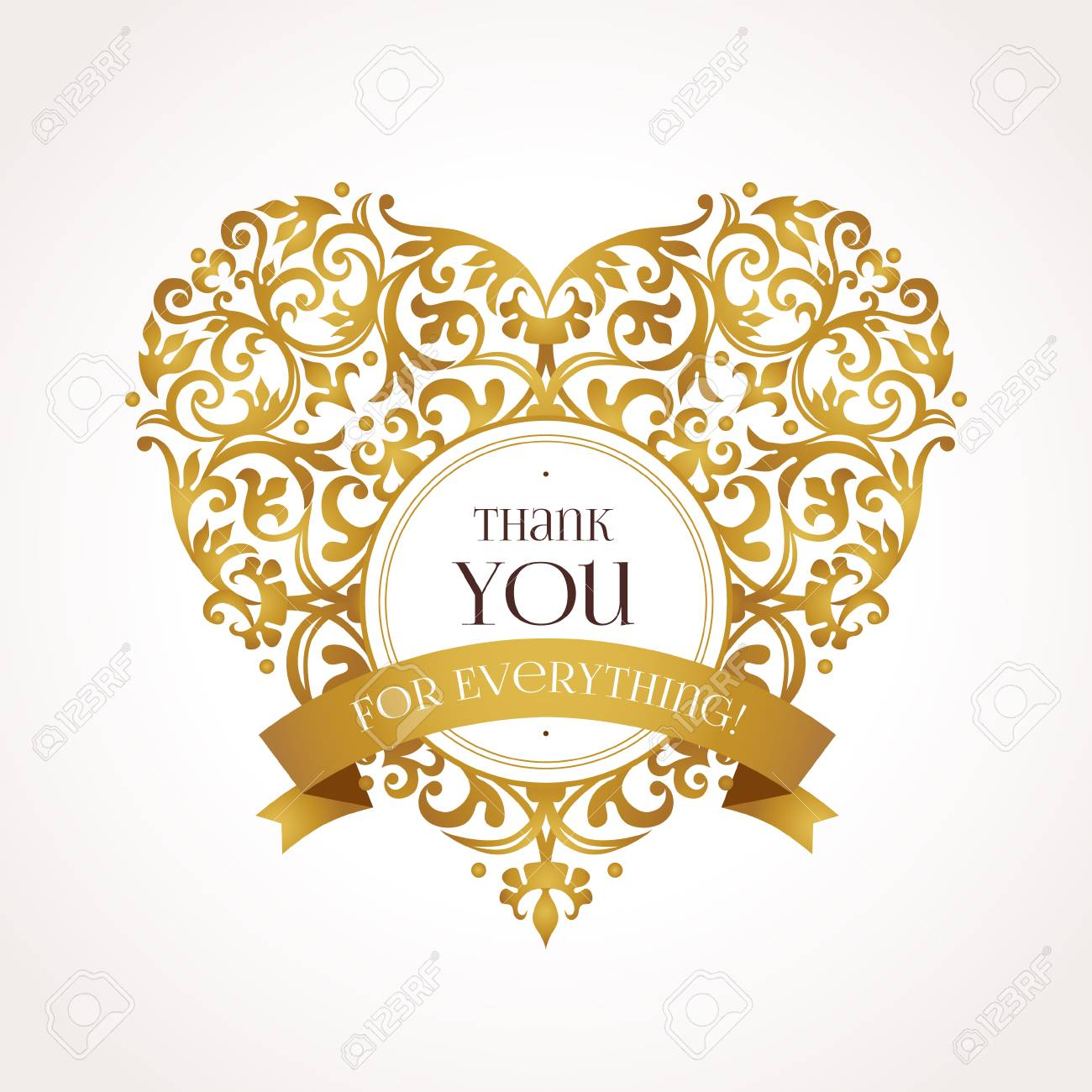 Ornate Vector Heart In Victorian Style Elegant Element For Design Place Text