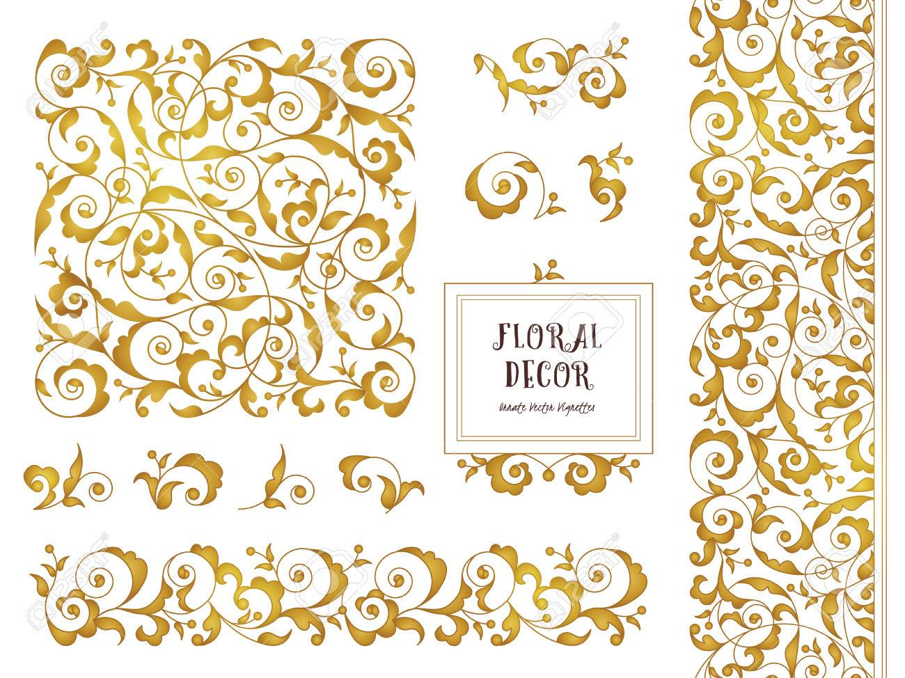 Vector set of ornate frames borders vignettes for design template vector set of ornate frames borders vignettes for design template elements in eastern kristyandbryce Image collections