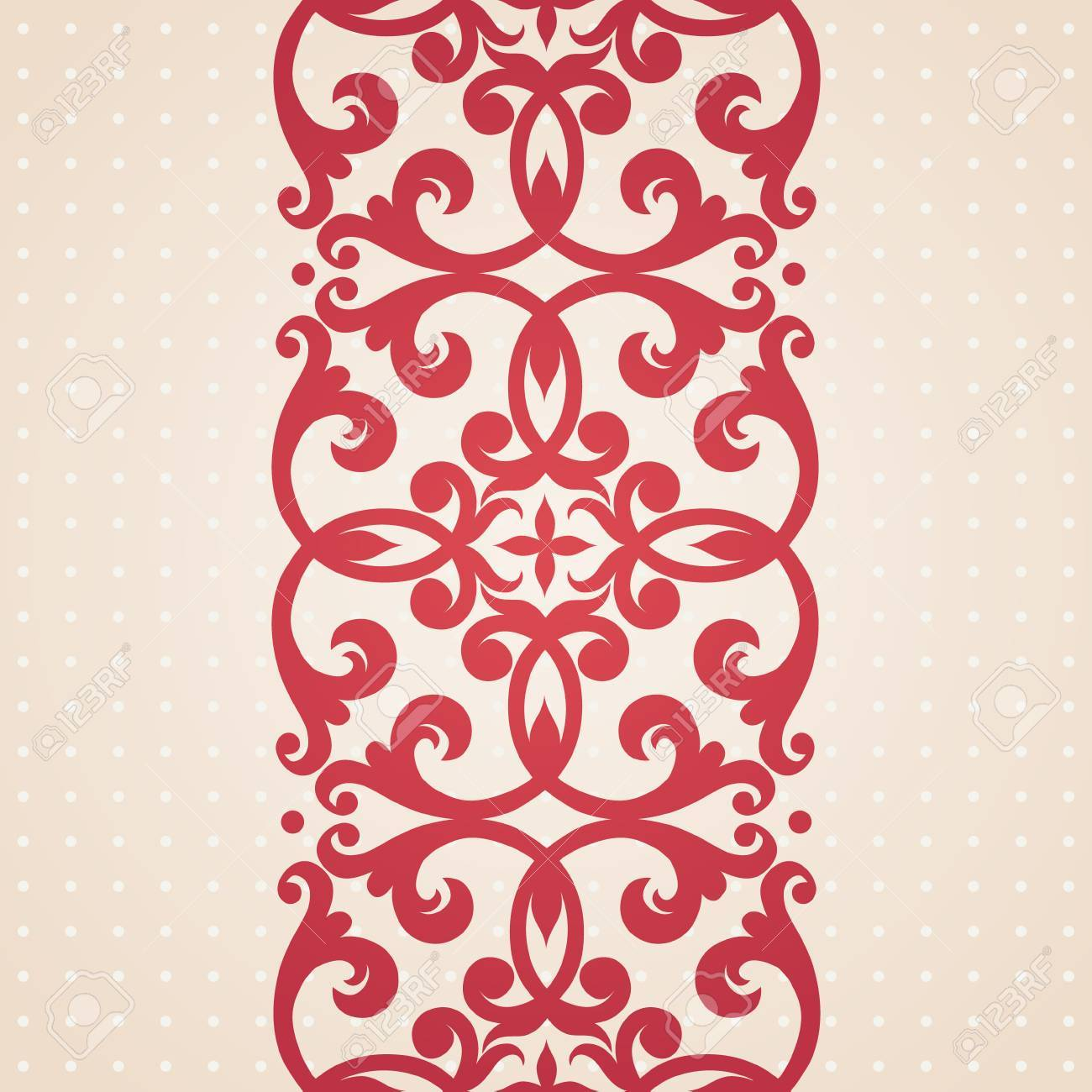 Vector Baroque Border In Victorian Style. Element For Design ...