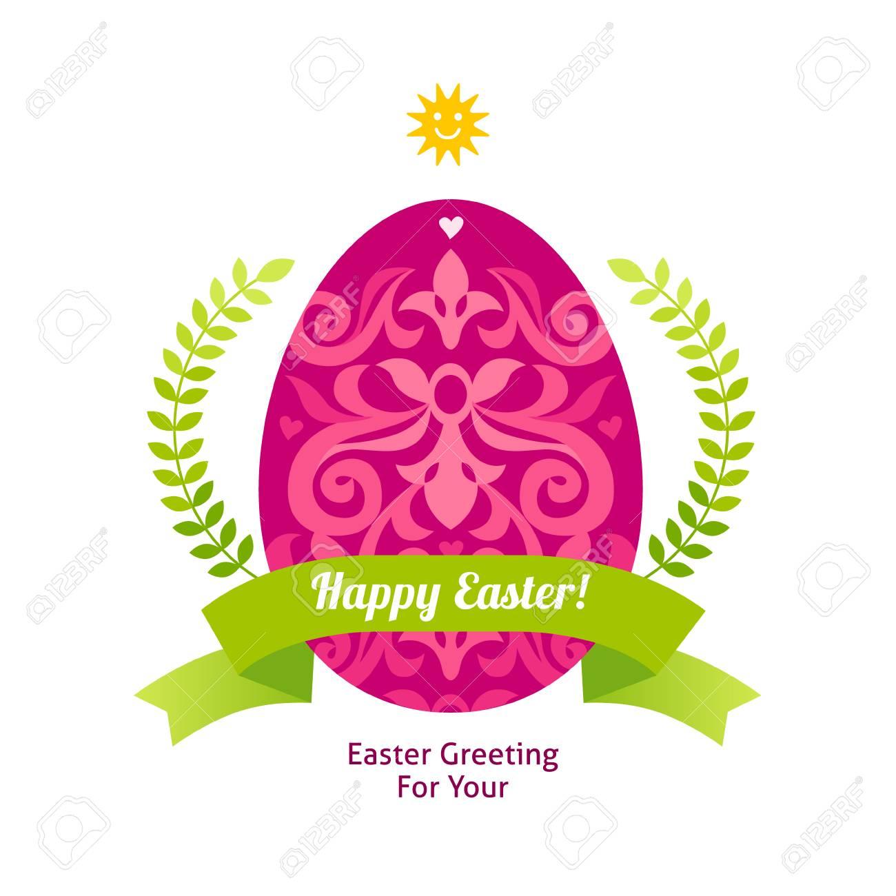 Floral ornamental egg for spring design bright element for happy floral ornamental egg for spring design bright element for happy easter greeting hipster label m4hsunfo Images
