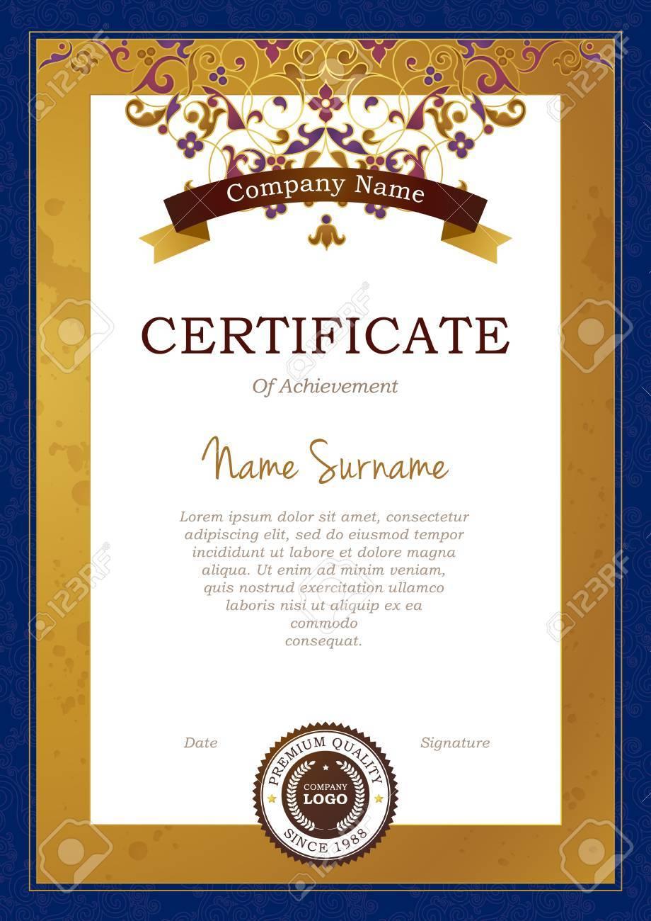 Charmant Rahmen Für Zertifikatvorlage Bilder - Beispiel Business ...