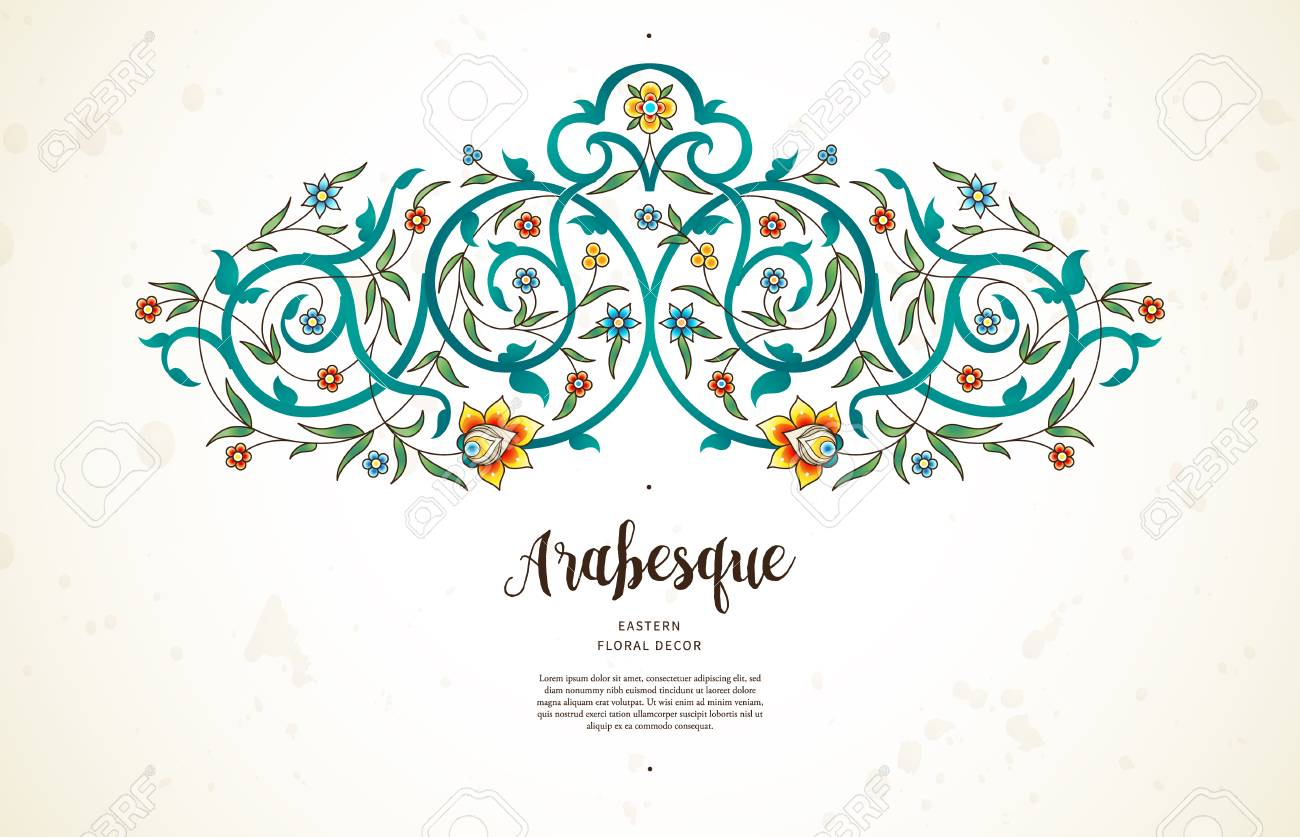 Vector Vintage Decor Ornate Floral Vignette For Design Template