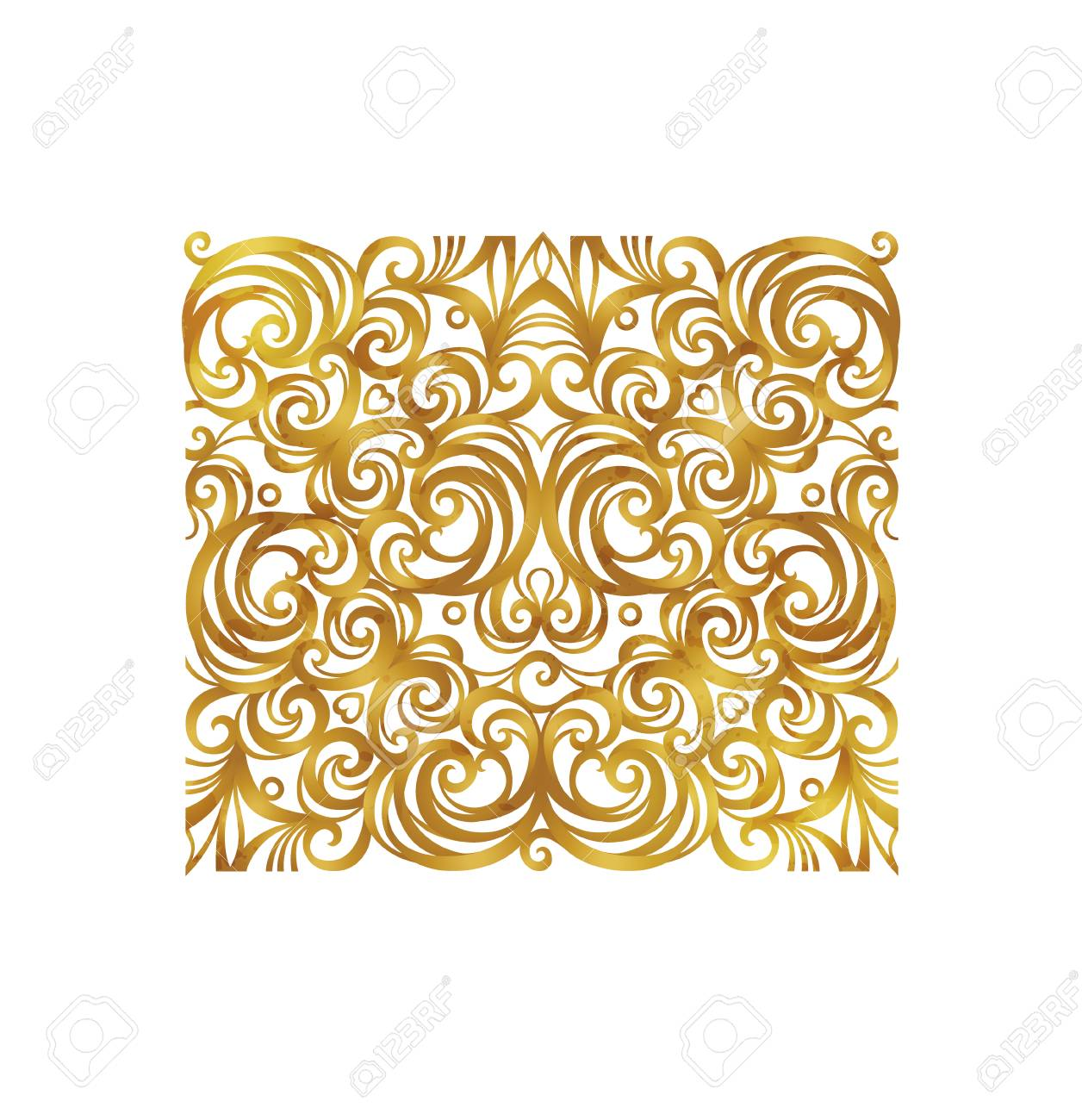vector vintage square decor floral ornament for design template