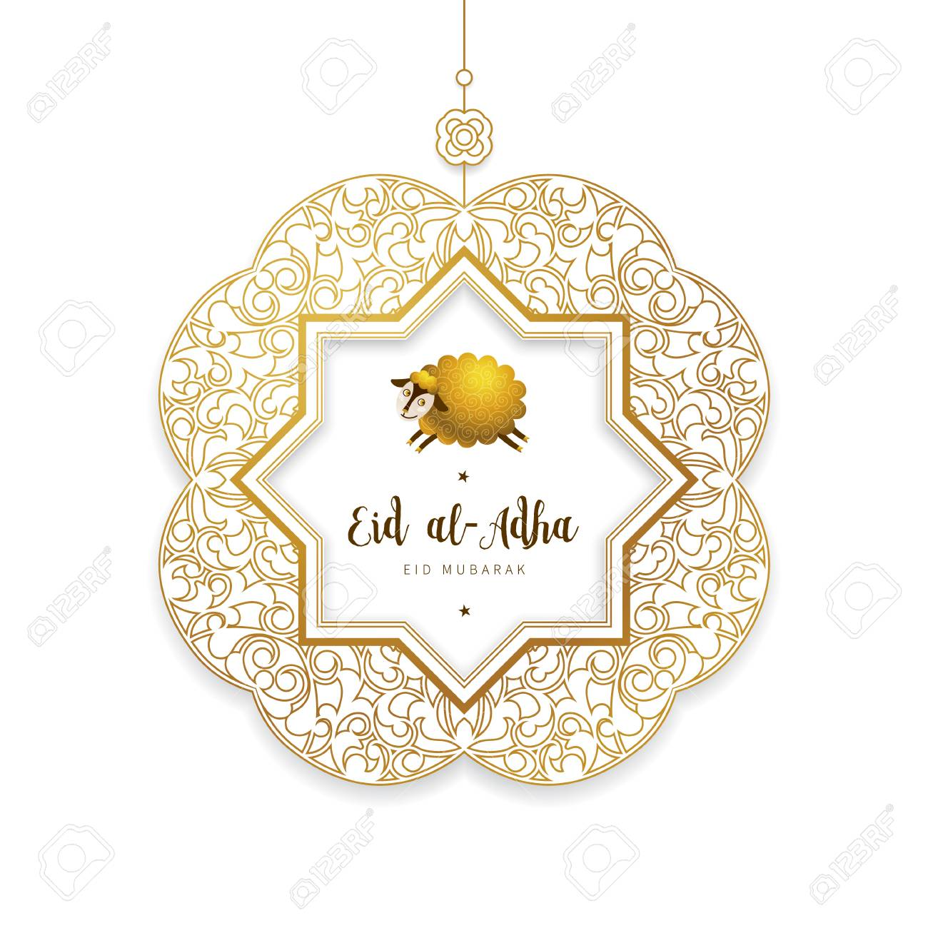 vector muslim holiday eid al adha card banner with sheep golden royalty free cliparts vectors and stock illustration image 104865535 vector muslim holiday eid al adha card banner with sheep golden royalty free cliparts vectors and stock illustration image 104865535