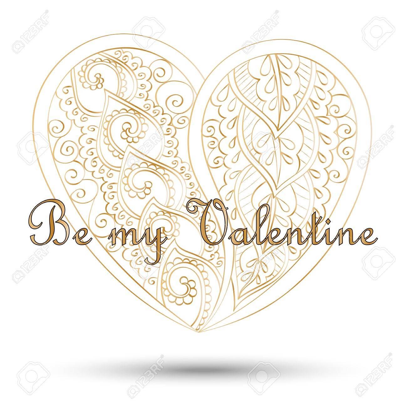 Tarjeta De Felicitación Para El Día De San Valentín. Corazón De ...