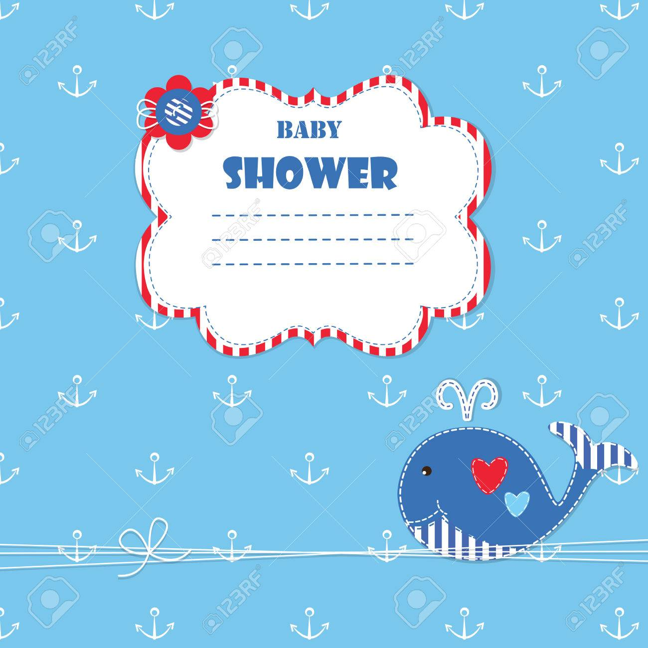 Baby background with cute ewhale for baby shower invitation baby background with cute ewhale for baby shower invitation greetings card stock vector kristyandbryce Image collections