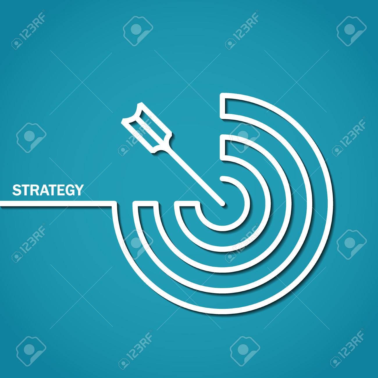 Illustration of Outline Strategy Concept for Design - 43828742