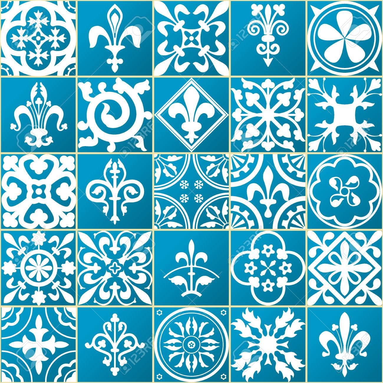 ベクトル図のモロッコ タイルのデザイン 背景 バナーのシームレスなパターン 壁紙やテキスタイルの要素です テクスチャ テンプレートのイラスト素材 ベクタ Image