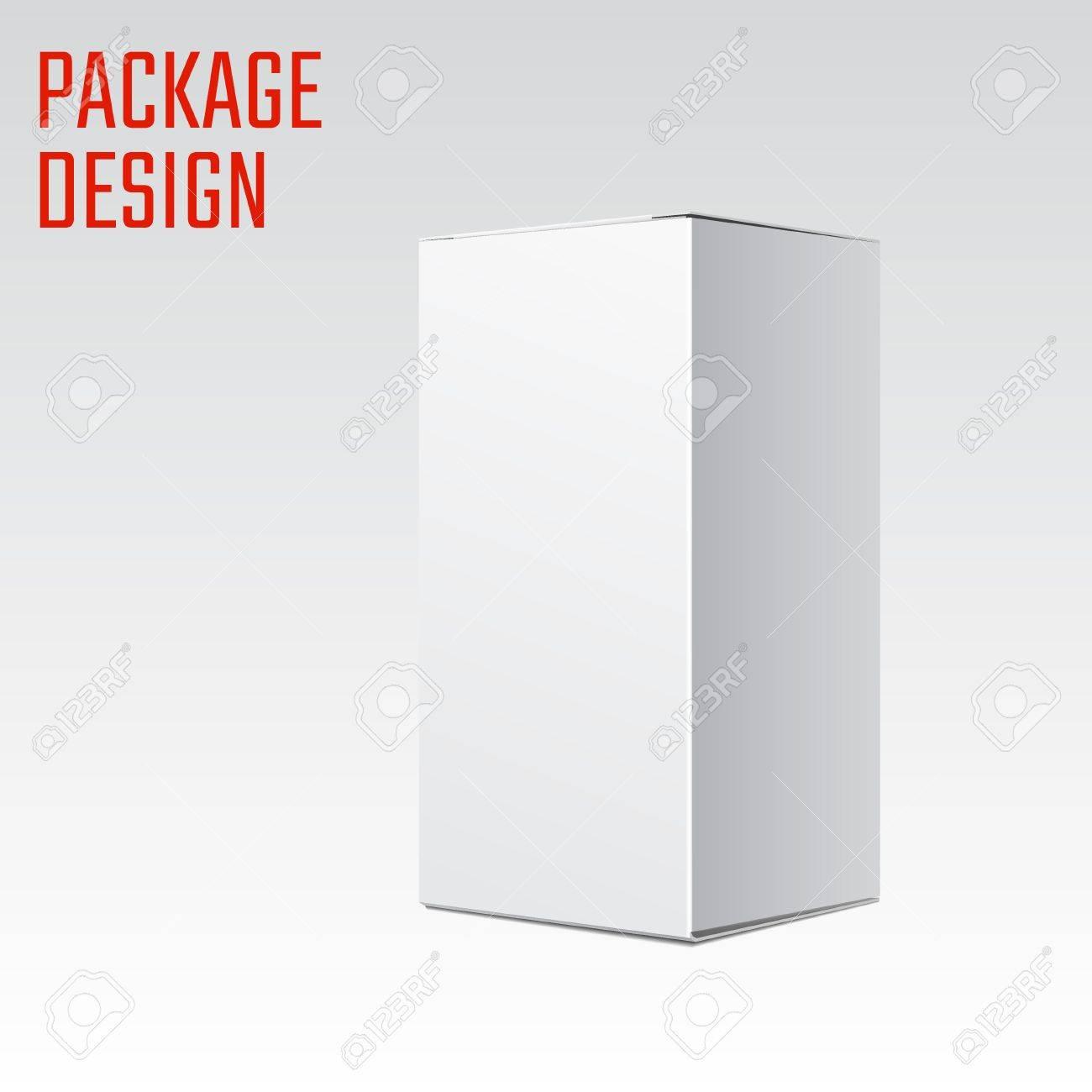 Ilustración Vectorial De Blanco Producto Caja De Cartón Del Paquete ...