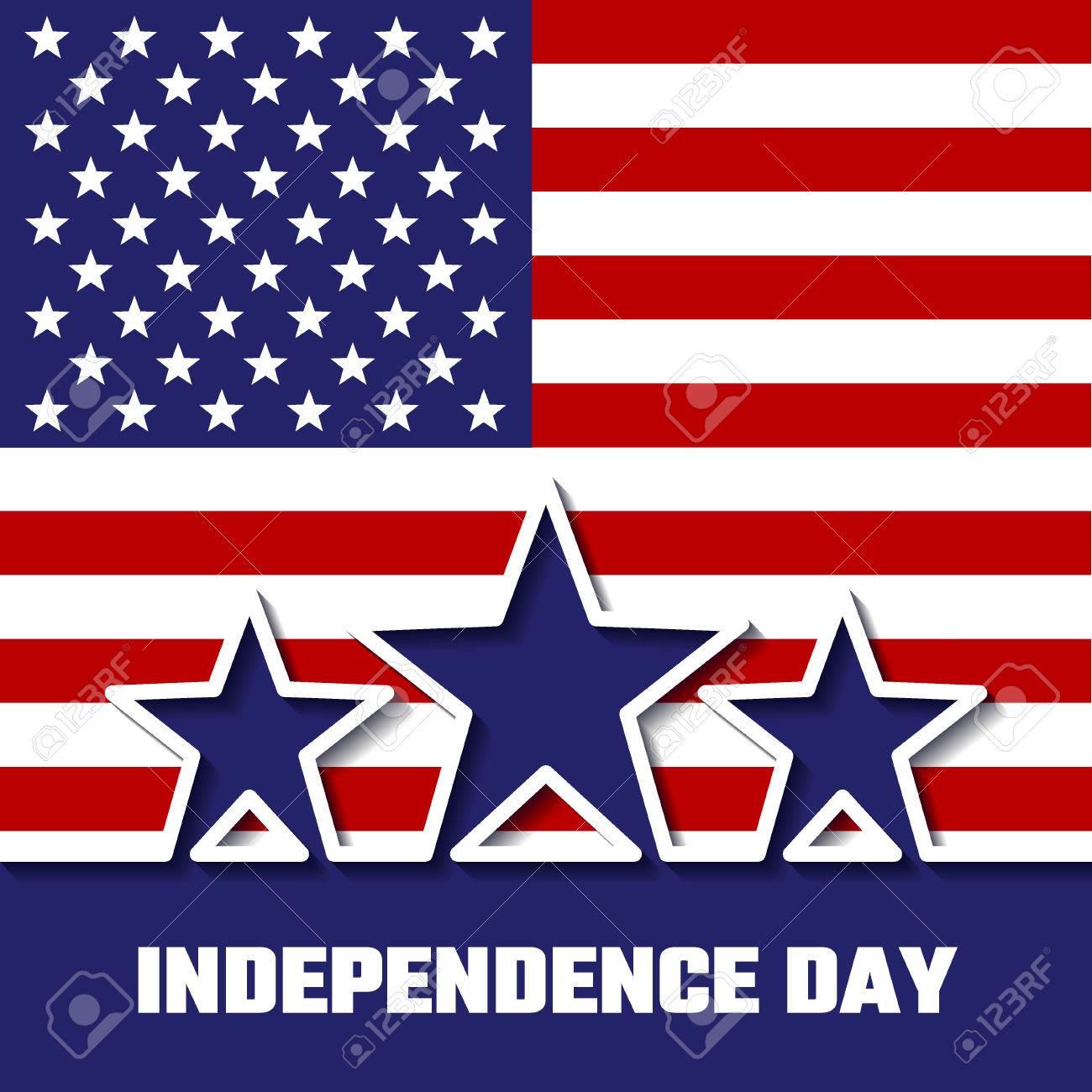 独立記念日のデザイン背景バナーのベクトルのイラストアメリカ休業