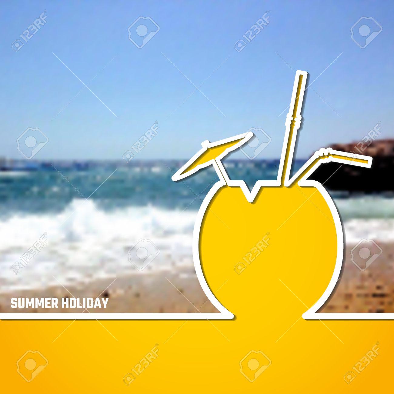 Free banner images for website - Vector Illustration Of Outline Summer Holiday Paradise Concept For Design Website Background Banner