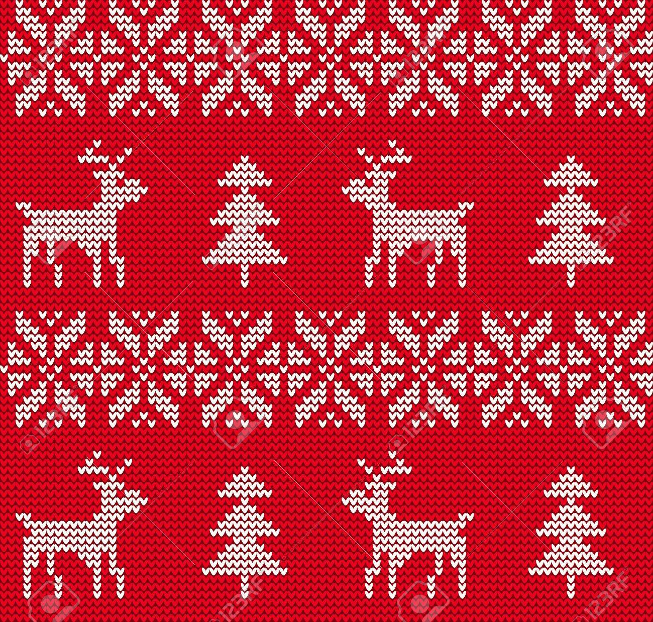 Vector Illustration of Ugly sweater seamless Pattern for Design, Website, Background, Banner. Merry christmas Knitted Retro cloth with Snowflake Element Template - 49450934