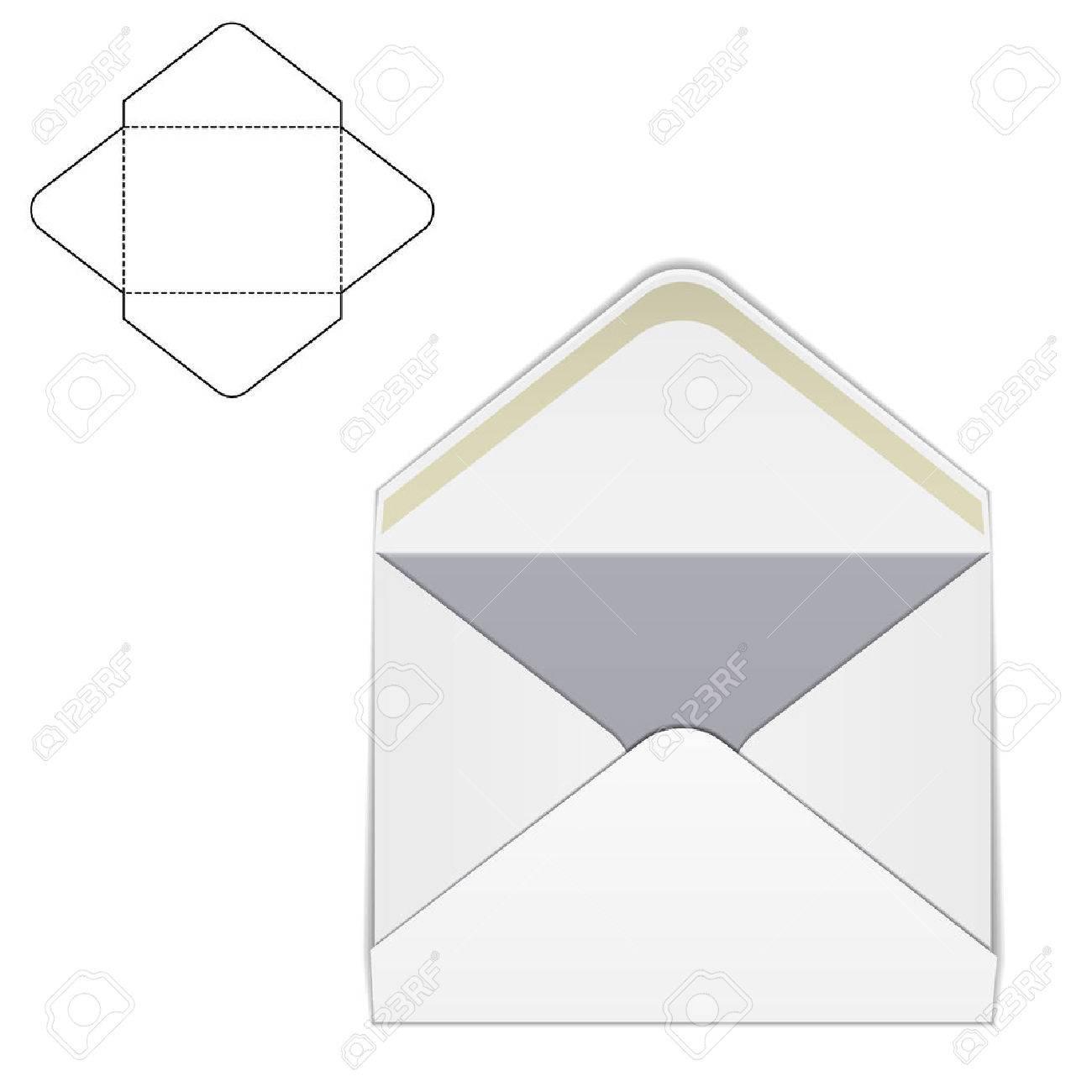 vector illustration of envelope paper or craft box for design