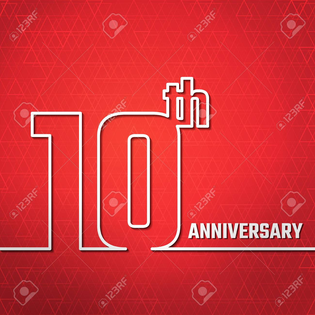 Vector Illustration of 10th Anniversary Outline for Design, Website, Background, Banner. Jubilee silhouette Element Template for greeting card - 49779972