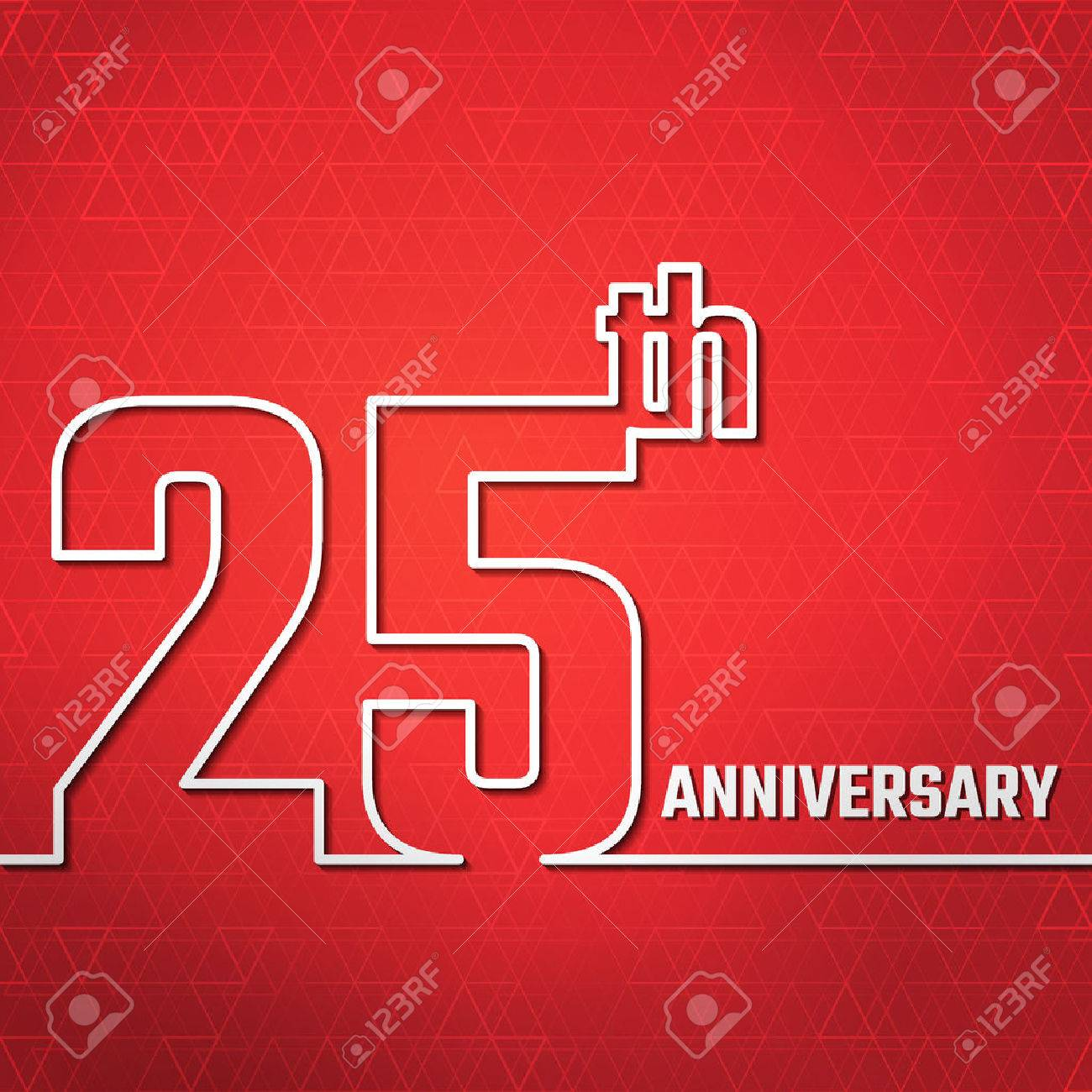 Vector illustration of anniversary 25th outline for design website vector illustration of anniversary 25th outline for design website background banner jubilee kristyandbryce Choice Image