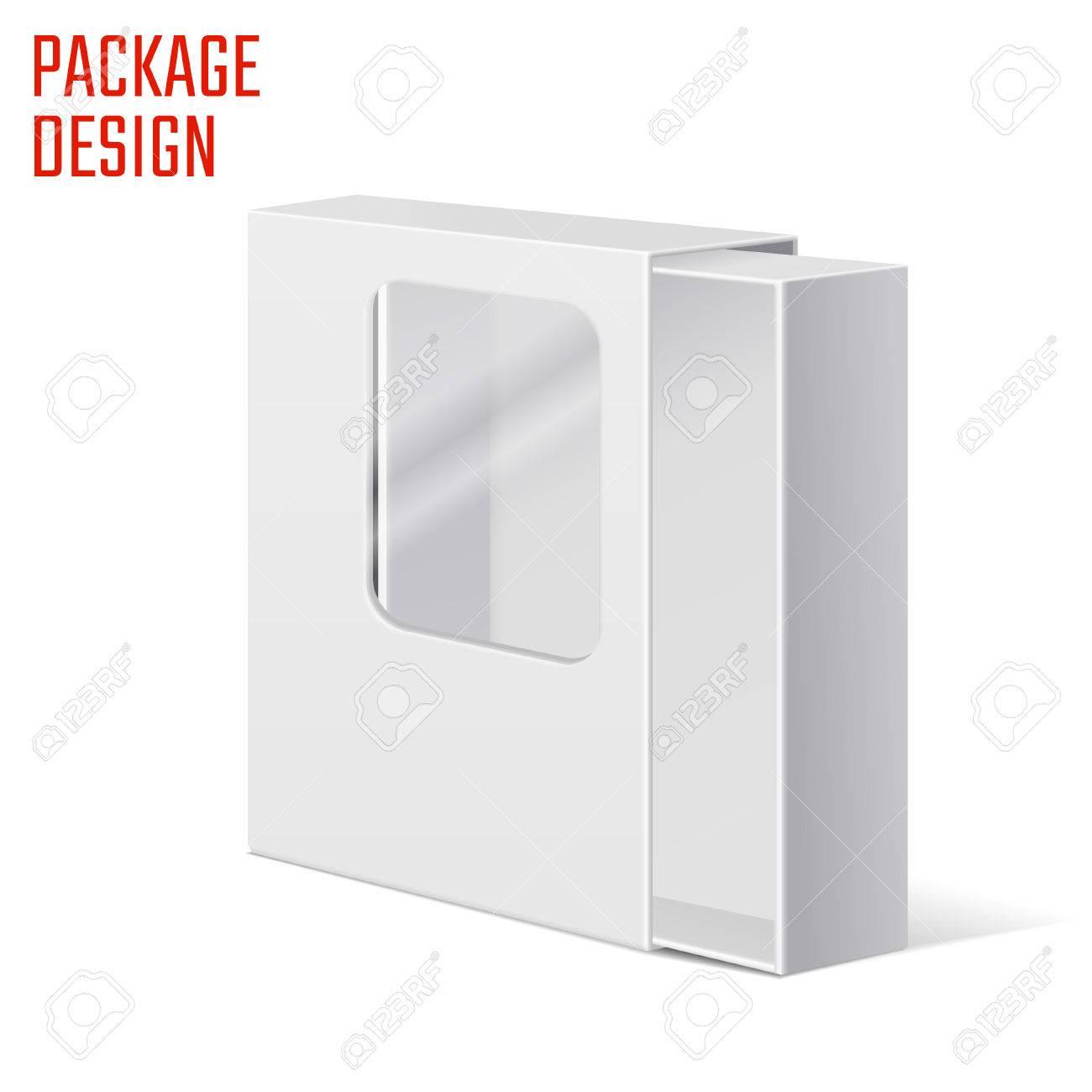 Ilustración Del Vector De Claro Regalo Caja De Cartón Para El Diseño ...