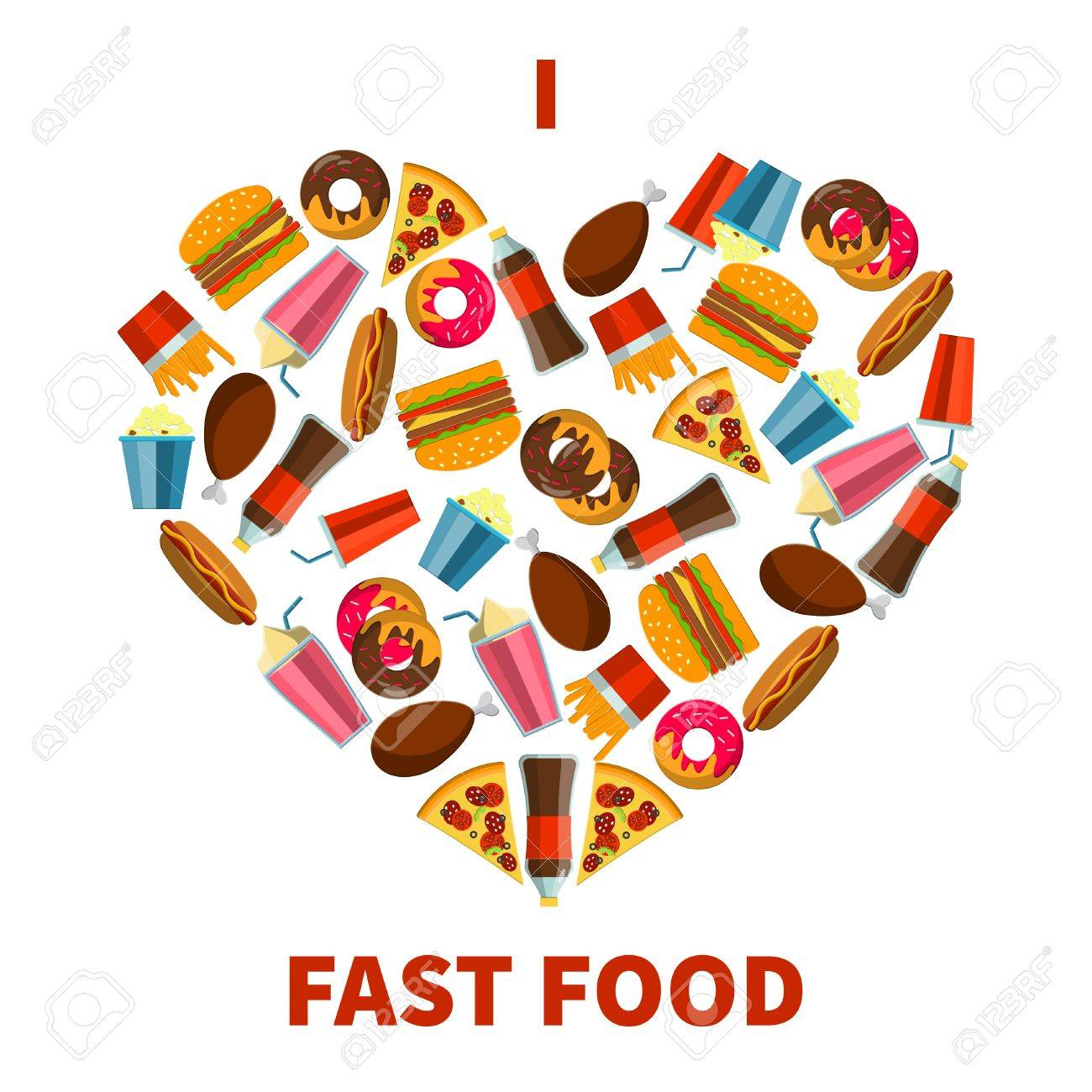 Flat vector illustration of fastfood for design website flat vector illustration of fastfood for design website background banne fat meal food biocorpaavc