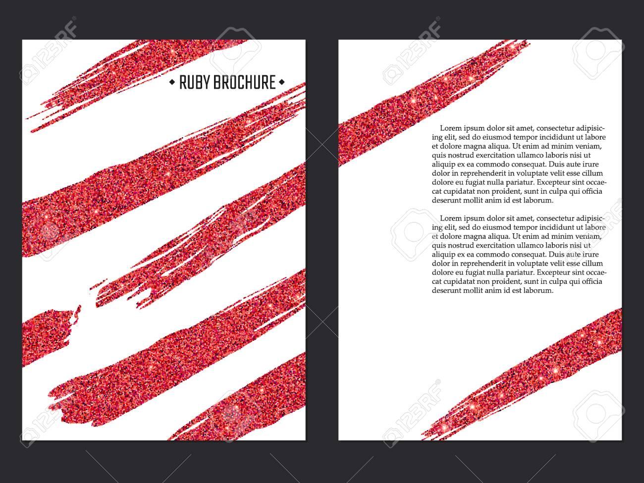 Vector Illustration Of Ruby Brochure For Design, Website, Background ...