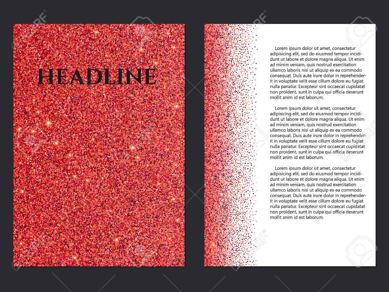 Vector Illustration Of Golden Brochure For Design, Website ...