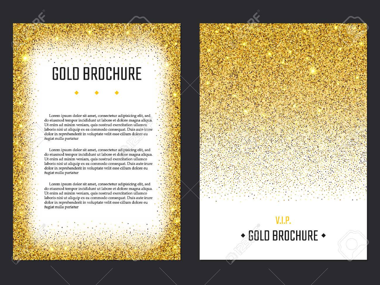 vector illustration of golden brochure for design website