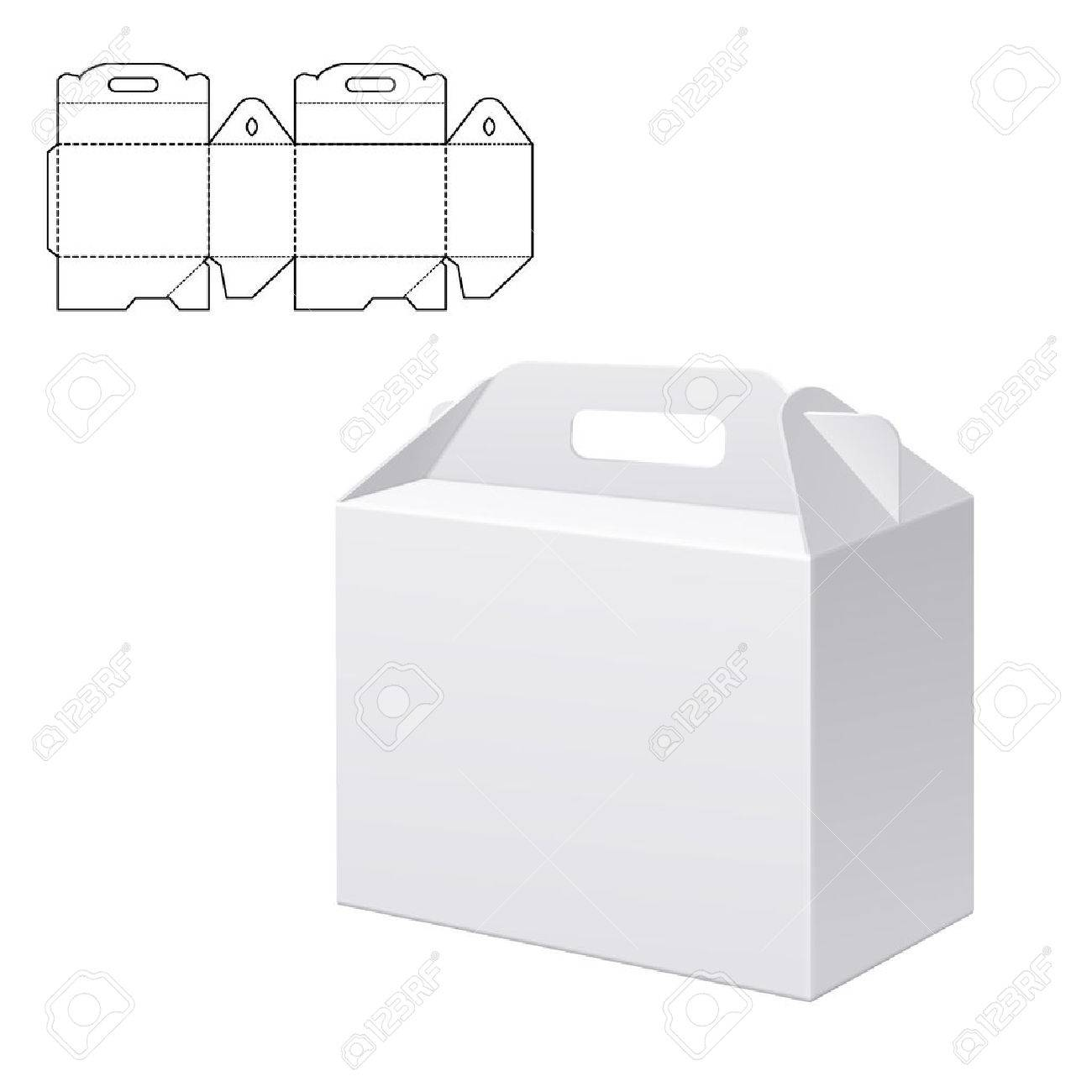 Vector Illustration of Clear Folding Carton Box with diecut for Design Website Background  sc 1 st  123RF Stock Photos : folding box design - Aboutintivar.Com
