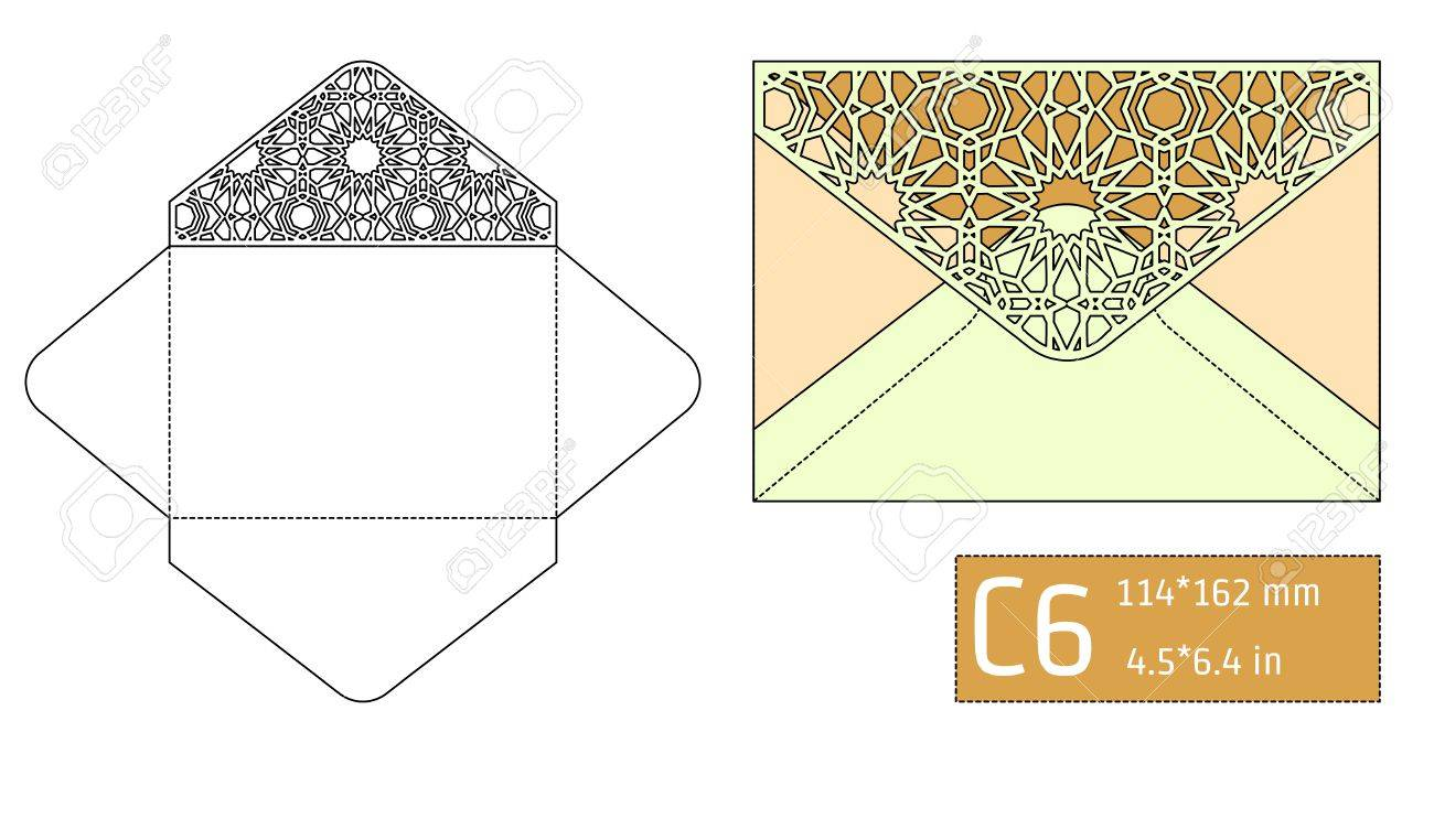 Vector illustration of envelope die cut mock up for design vector illustration of envelope die cut mock up for design website background banner malvernweather Image collections
