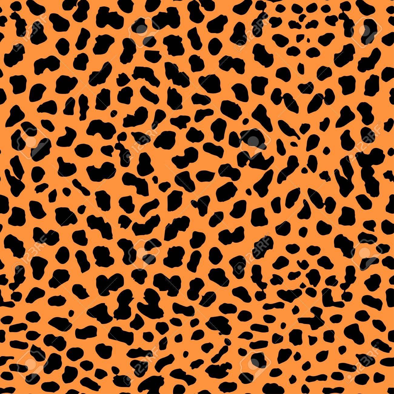 Vector Illustration Of Leopard Print Seamless Pattern Wild Texture