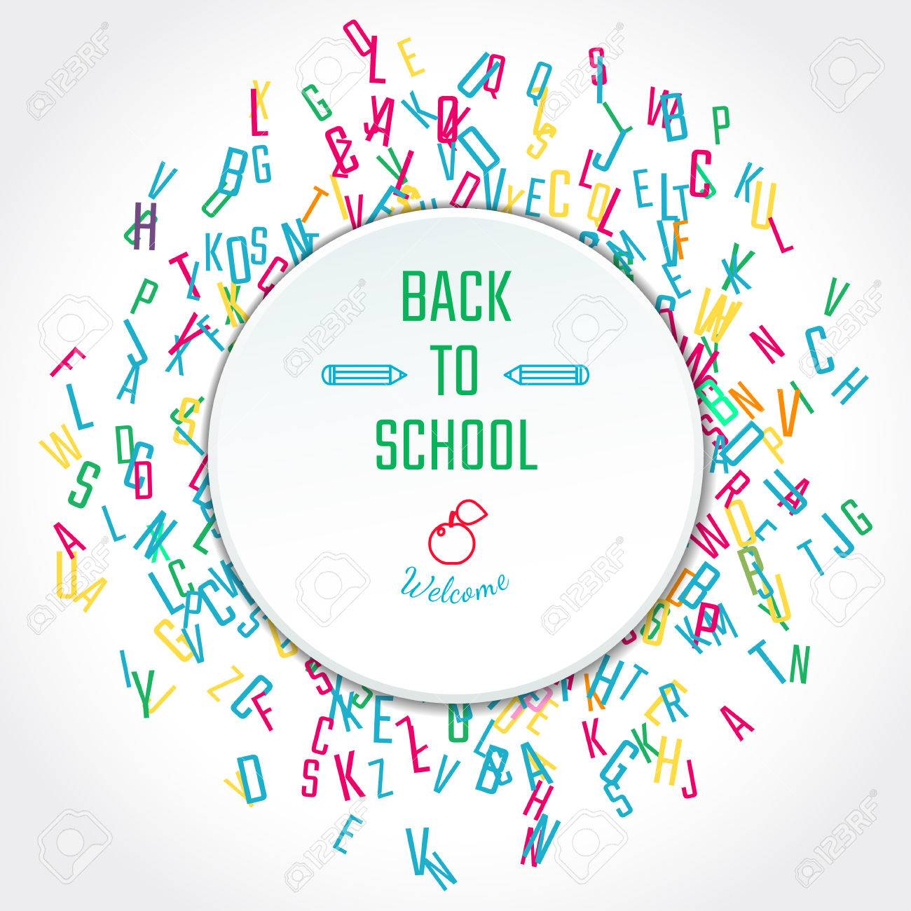 Vector Illustration Of Back To School For Design Website Background Royalty Free Cliparts Vectors And Stock Illustration Image 59868562