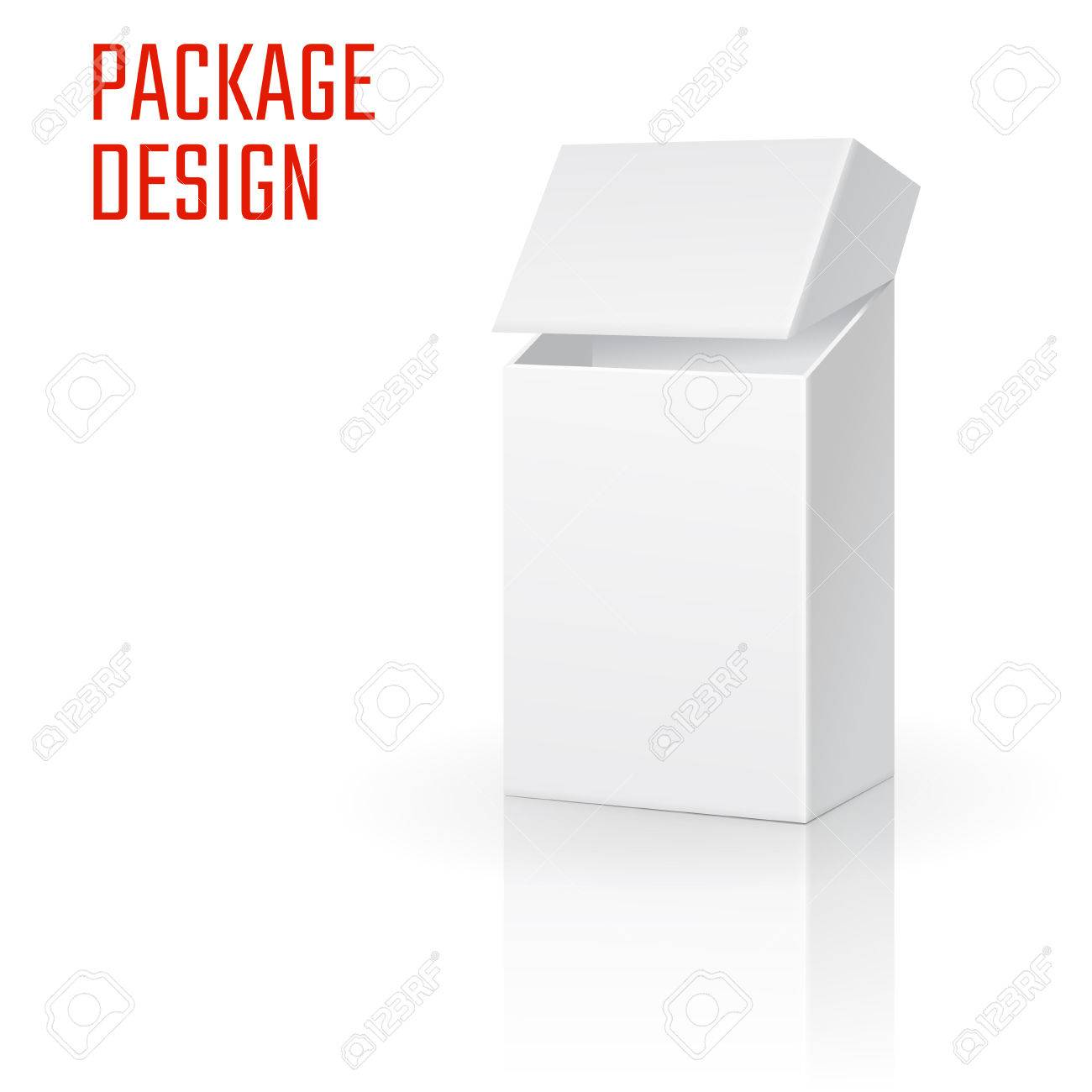 Vector illustration of clear craft box for design website vector vector illustration of clear craft box for design website background banner retail folding package template fold pack blank of cigarettes for maxwellsz