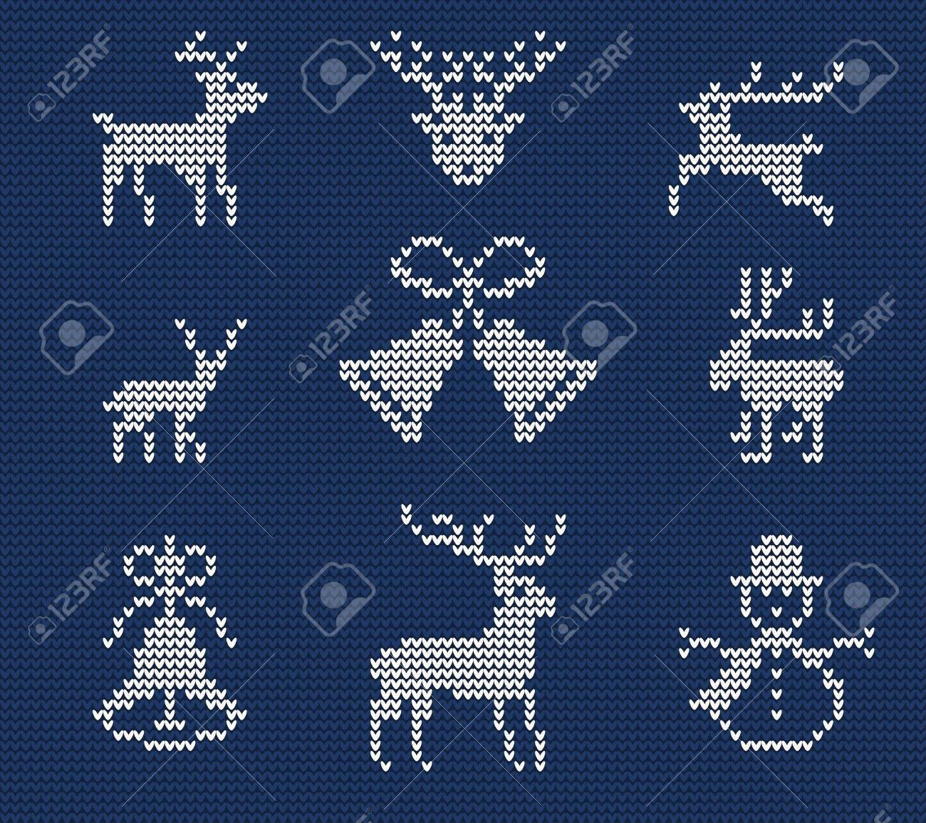 Ilustración De Feo Suéter Patrón Transparente Para El Diseño, Sitio ...