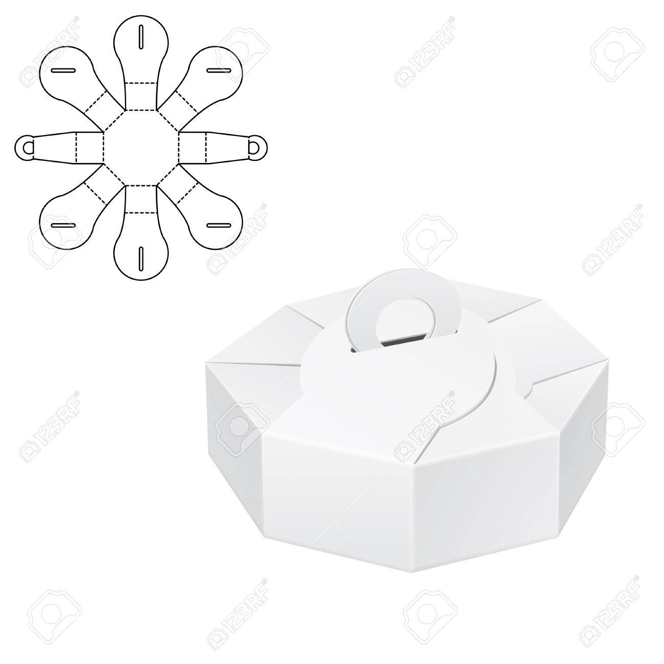 Illustration Of Diecut Craft Box For Design Website Background