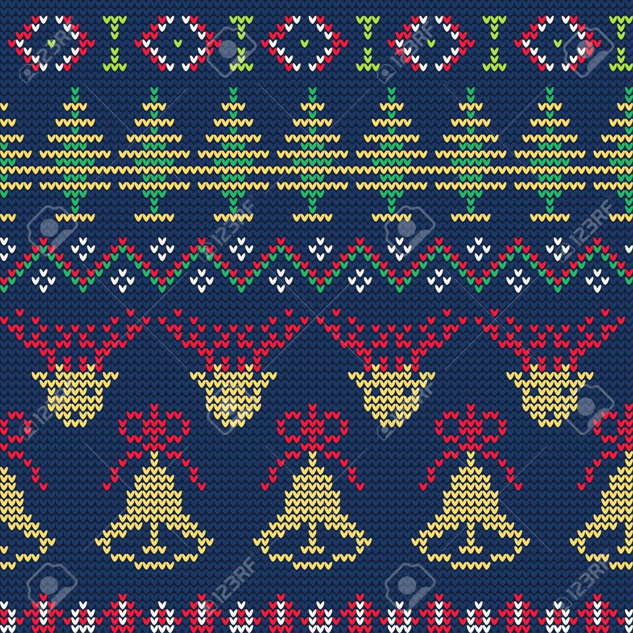7b1e9c8cee979 Vector - Vector Illustration of Ugly sweater seamless Pattern for Design