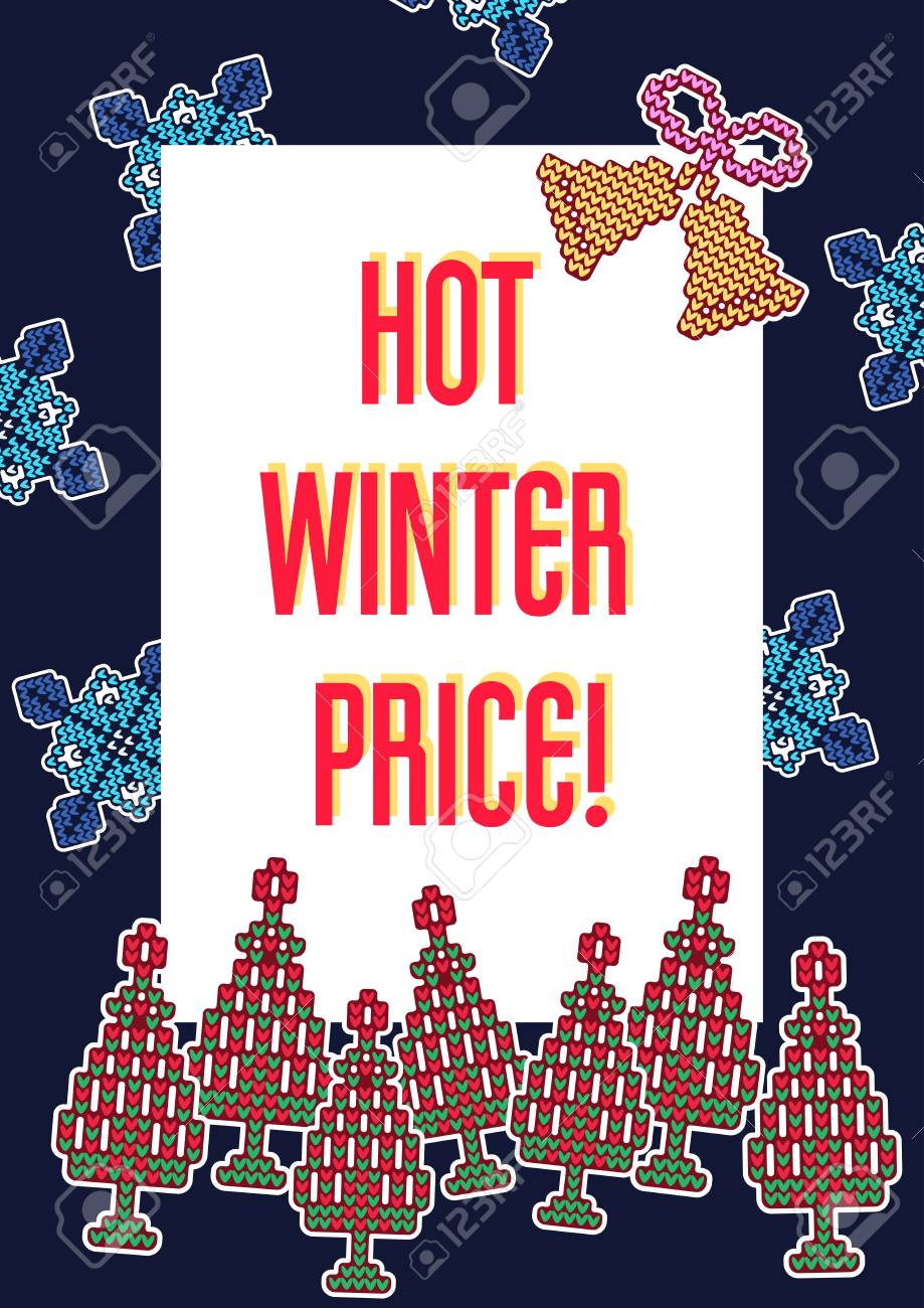 Vector Illustration Of Discount Sweater Holidays Card For Design